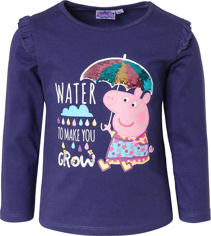 Kinder,  Mädchen,  Kinder Peppa Pig Langarmshirt blau, blau,  gelb,  rosa,  rot, blau,  pink, rot,  schwarz | 03609084004996