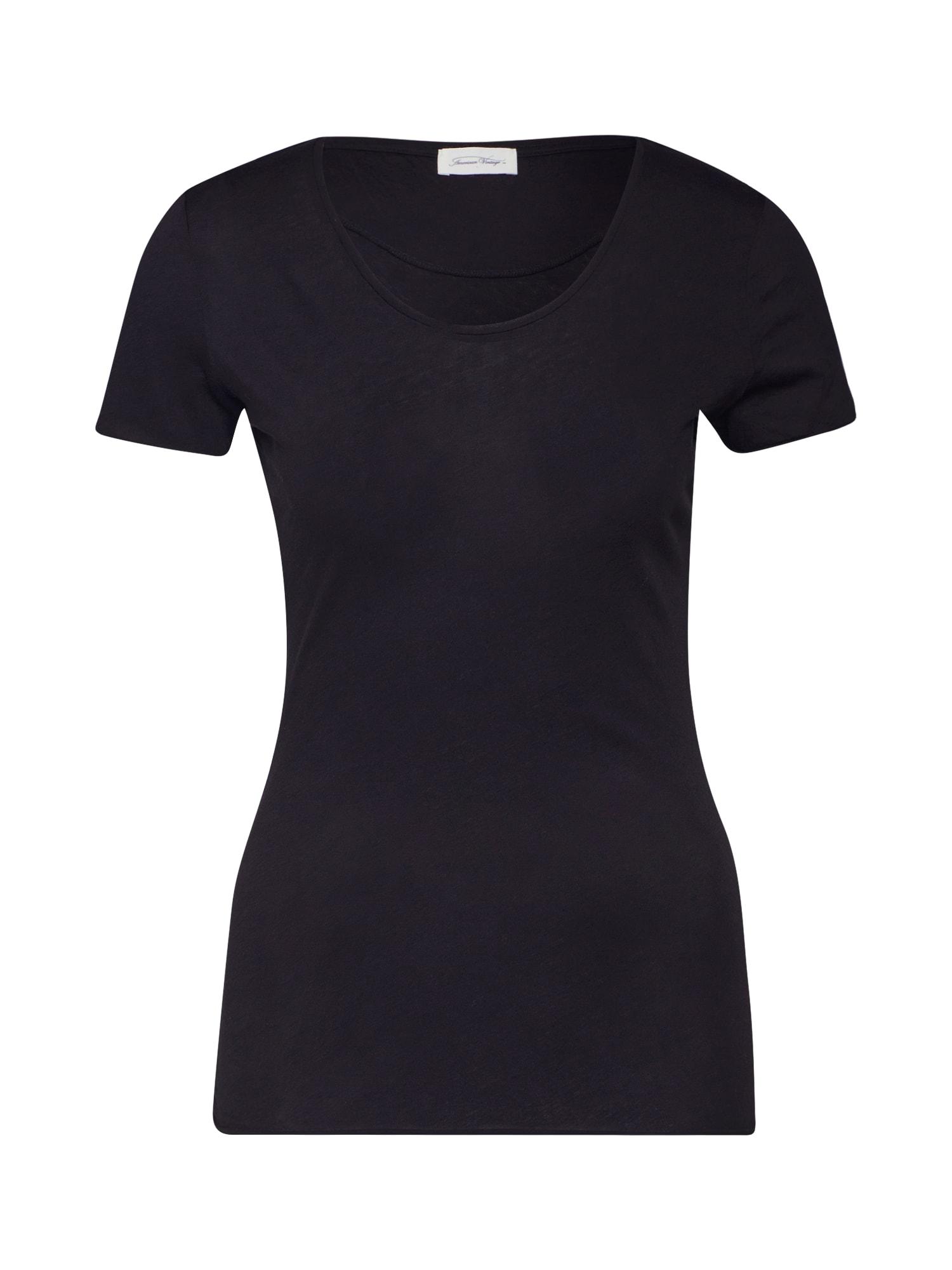 AMERICAN VINTAGE Tričko 'CHIPIECAT'  čierna