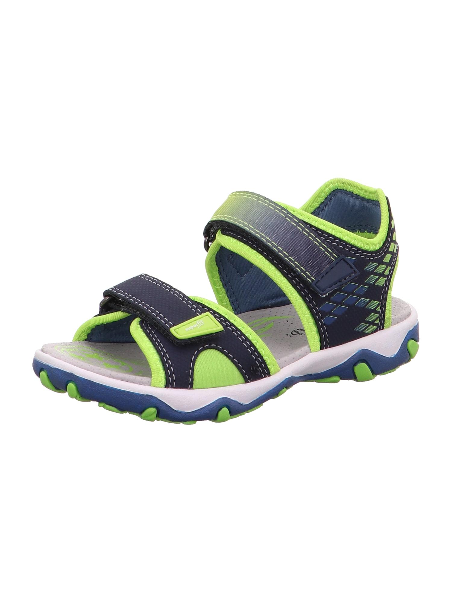 SUPERFIT Atviri batai 'MIKE 3.0' žalia / mėlyna