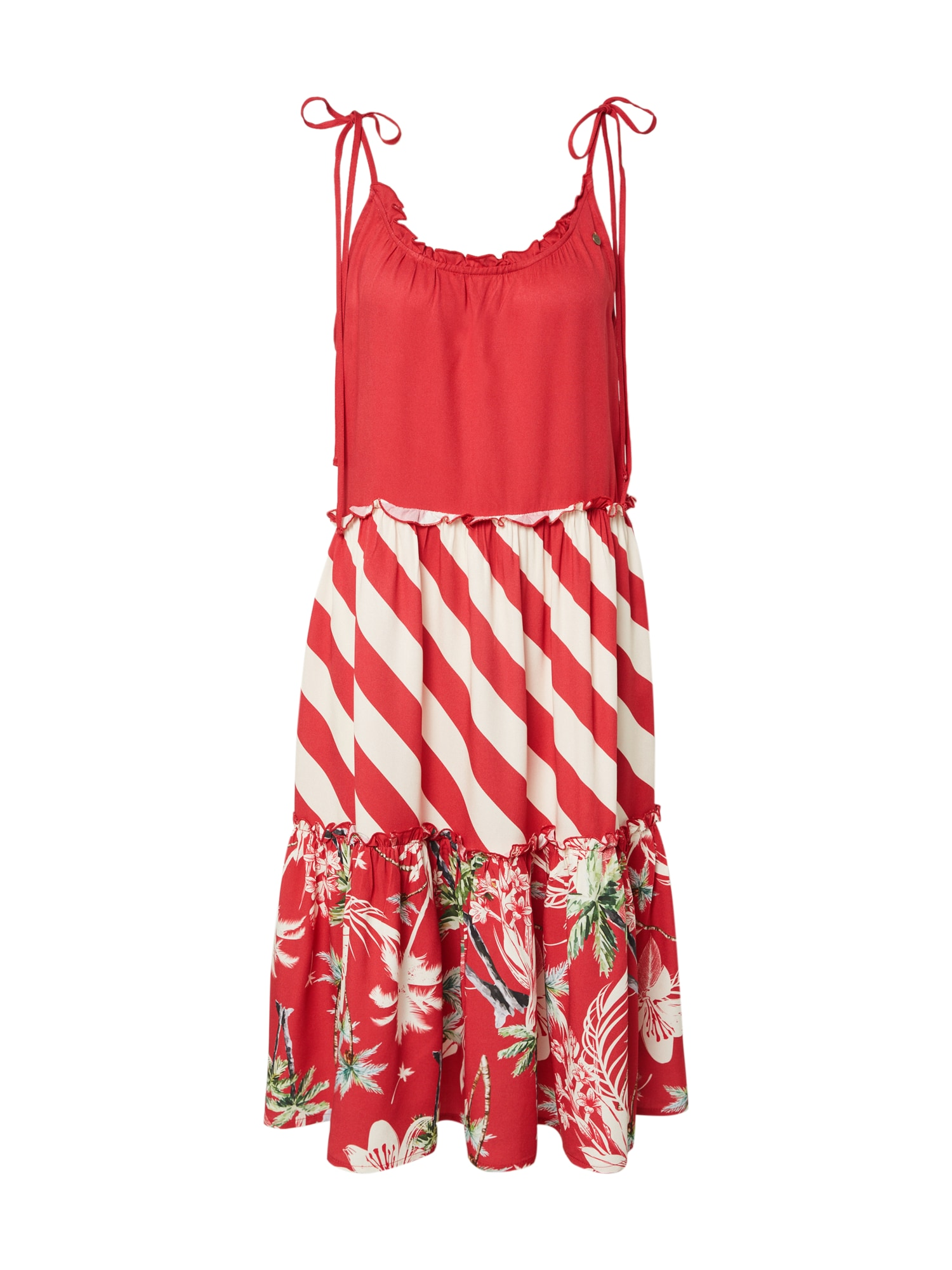 Femi Stories Vasarinė suknelė 'SALI' raudona / mišrios spalvos