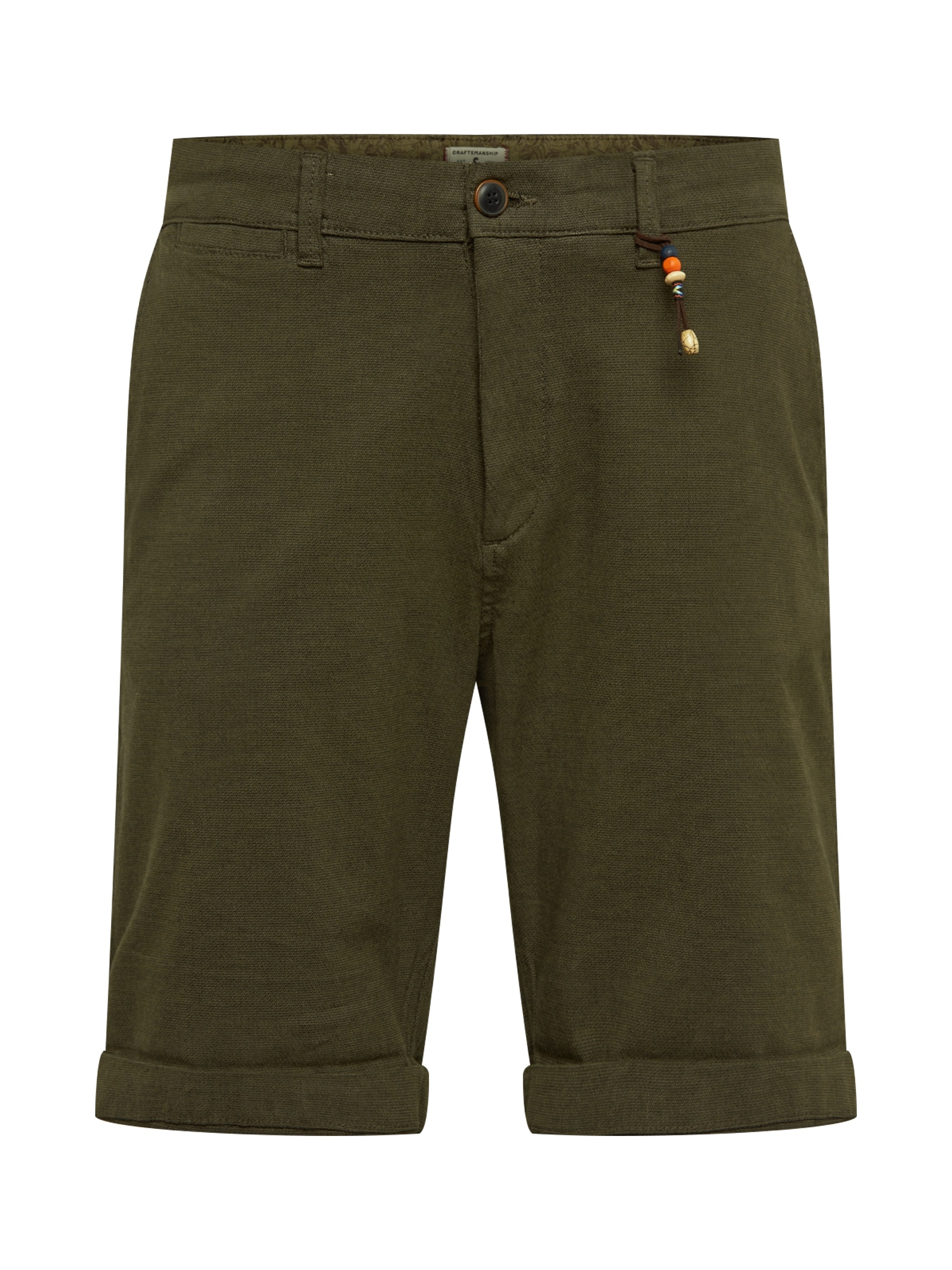 Chino kalhoty JJIKENZO JJCHINO SHORTS AKM 432 olivová JACK & JONES