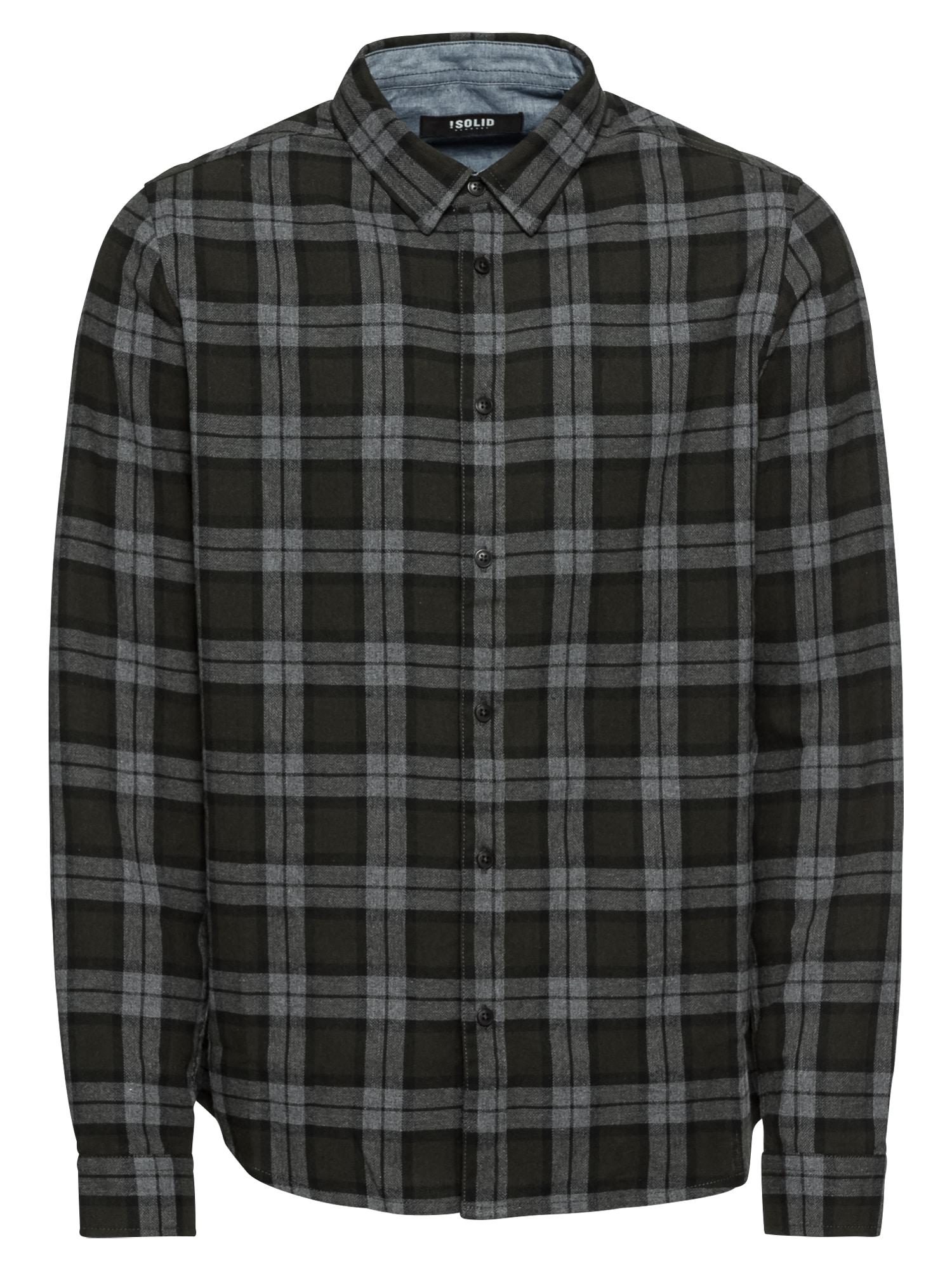 Košile Tylor Check tmavě modrá čedičová šedá !Solid