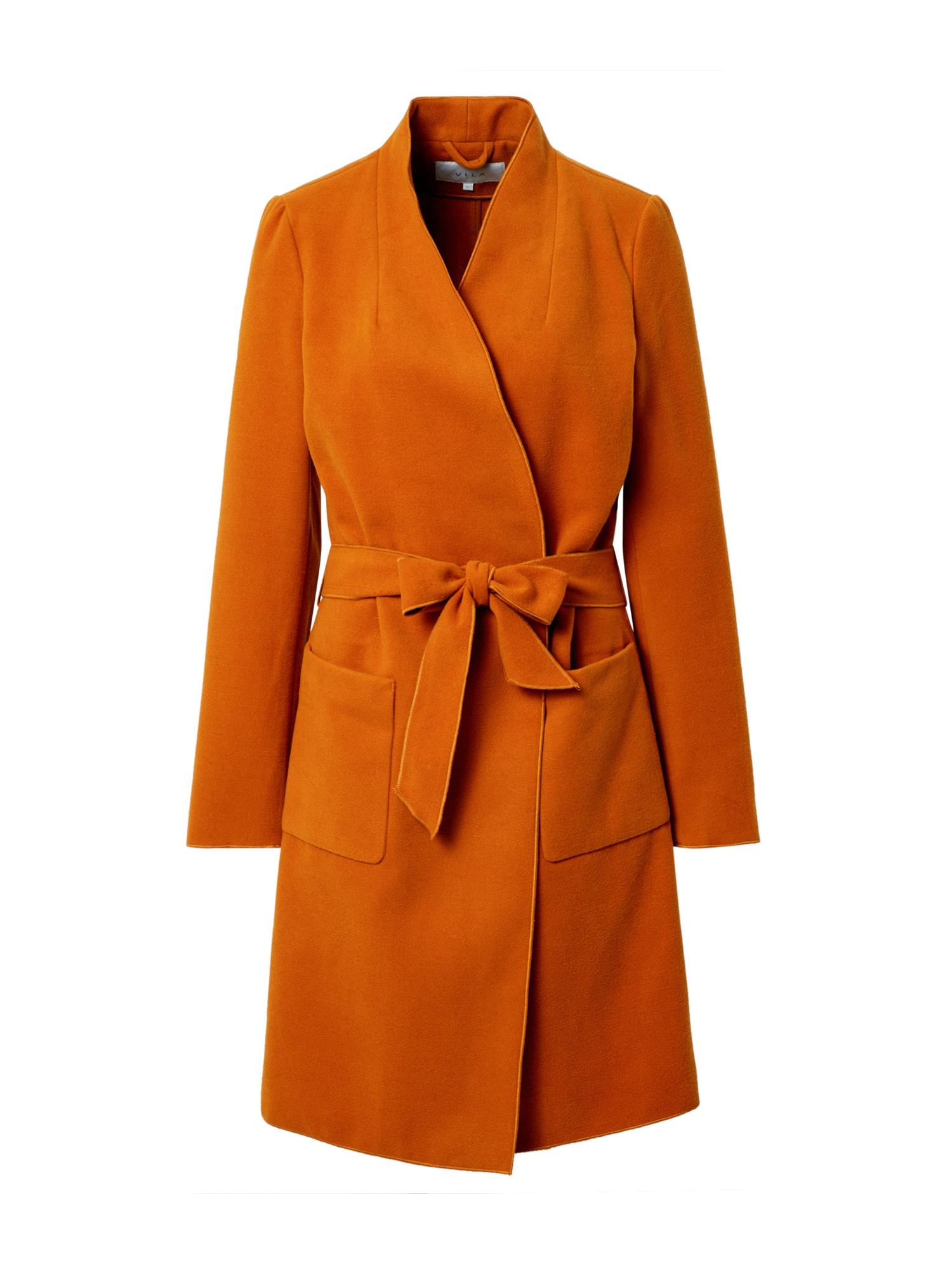 VILA Demisezoninis paltas oranžinė