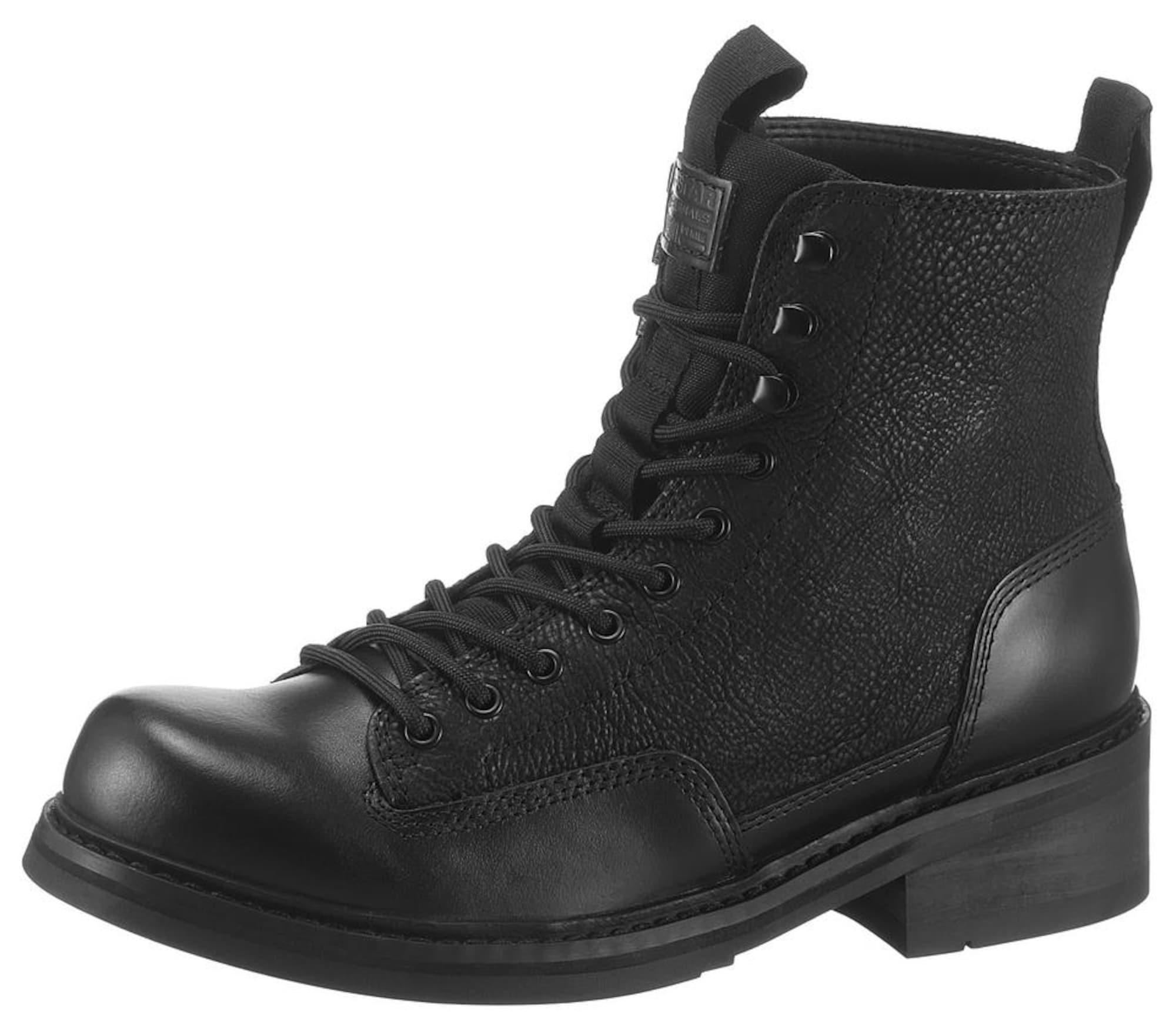 G-Star RAW Suvarstomieji batai 'Roofer II' juoda