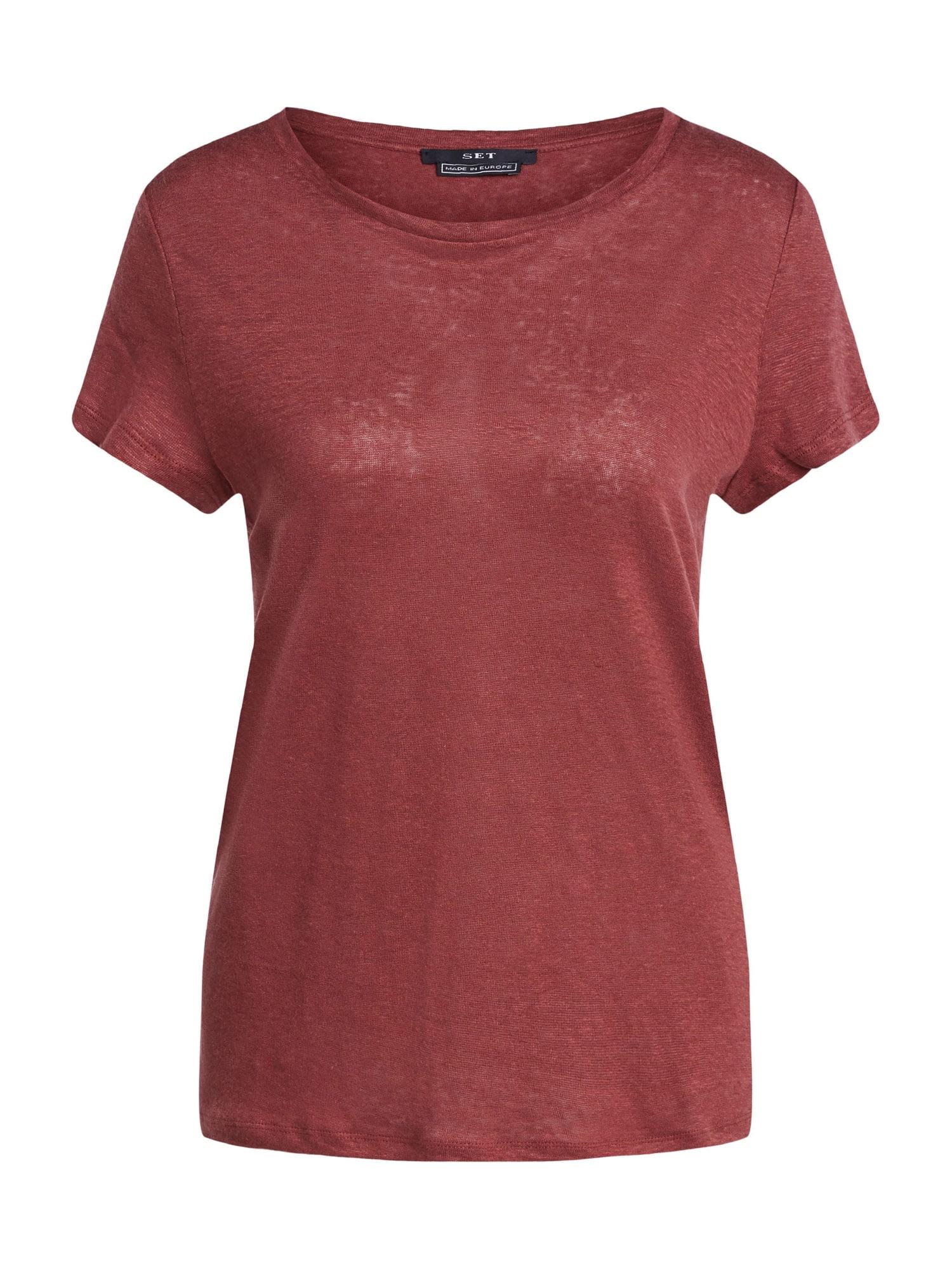SET Marškinėliai vyno raudona spalva