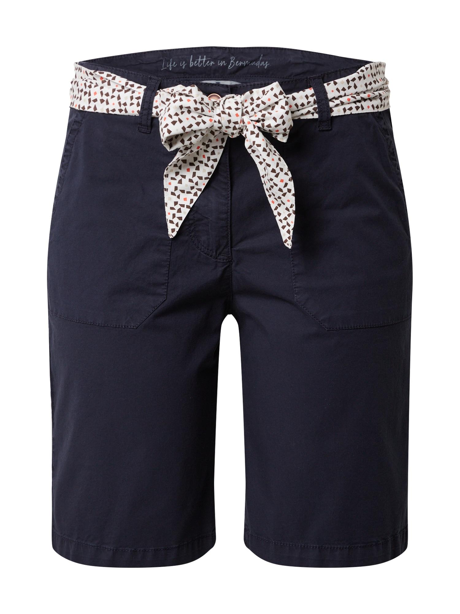 TOM TAILOR Chino kalhoty  tmavě modrá