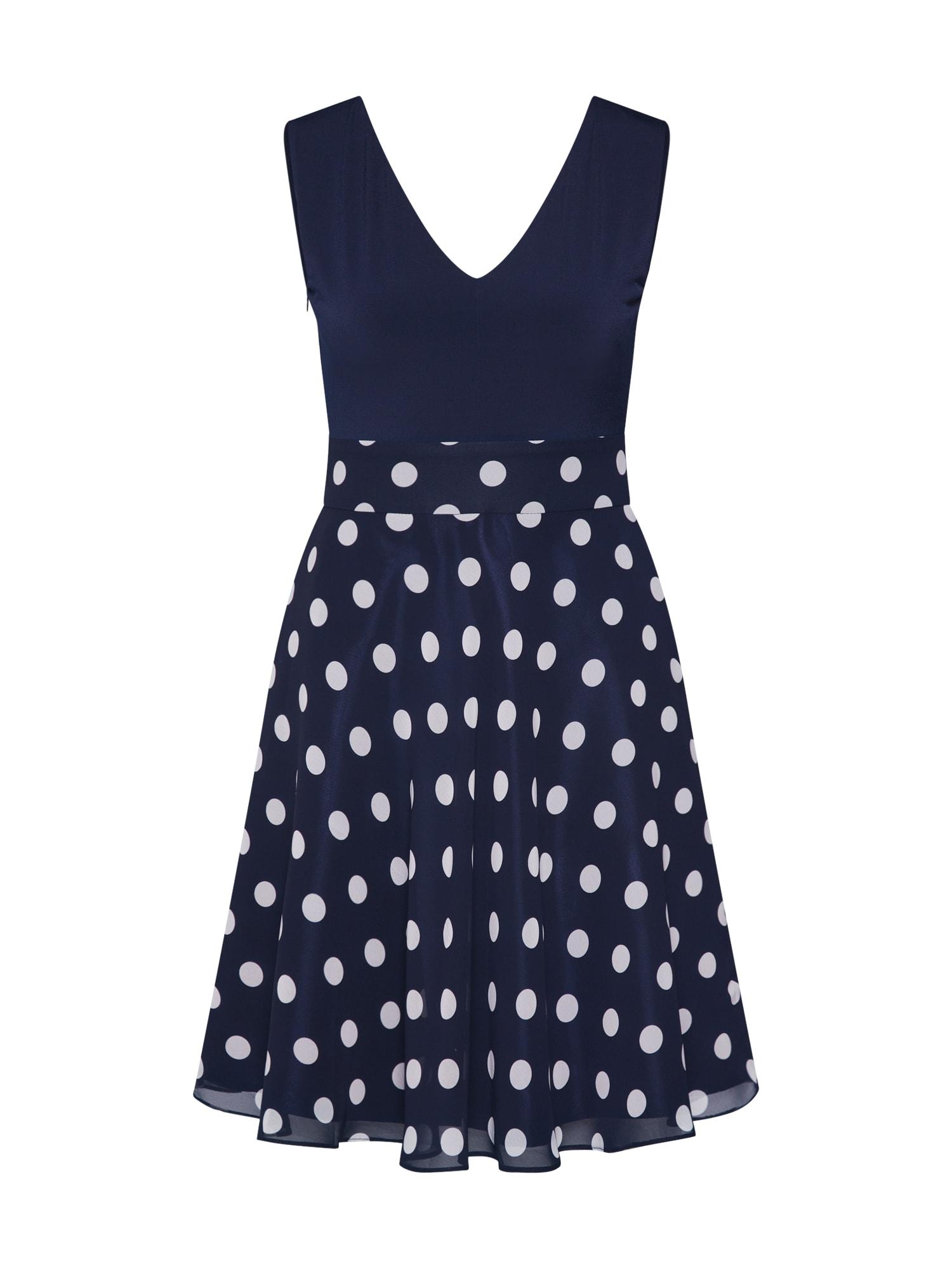 Letní šaty tmavě modrá bílá SWING