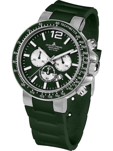 Uhren für Frauen - Jacques Lemans Uhr 'Milano' dunkelgrün  - Onlineshop ABOUT YOU