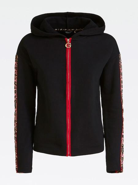 Jacken für Frauen - GUESS Sweatjacke rot schwarz  - Onlineshop ABOUT YOU