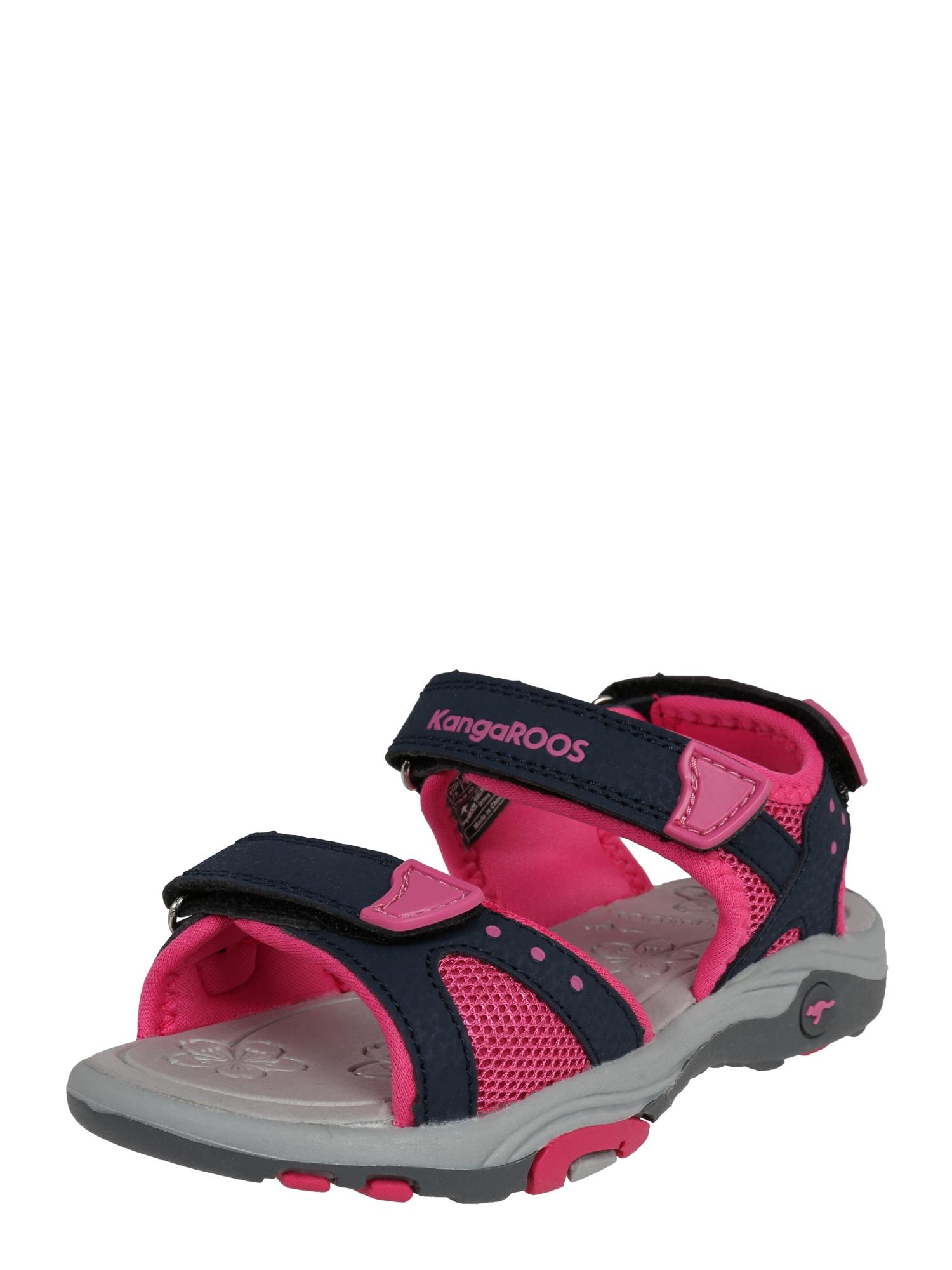 Sandály Belle šedá pink černá KangaROOS