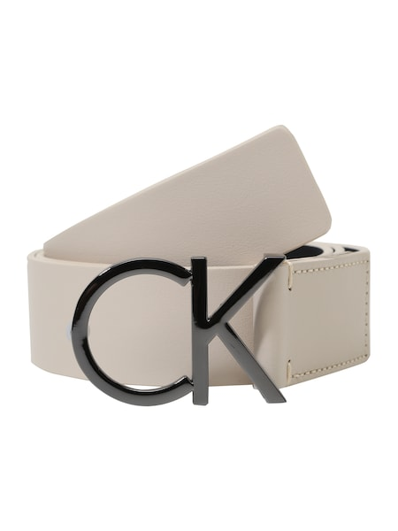 Guertel für Frauen - Calvin Klein Ledergürtel mit Logo champagner anthrazit  - Onlineshop ABOUT YOU
