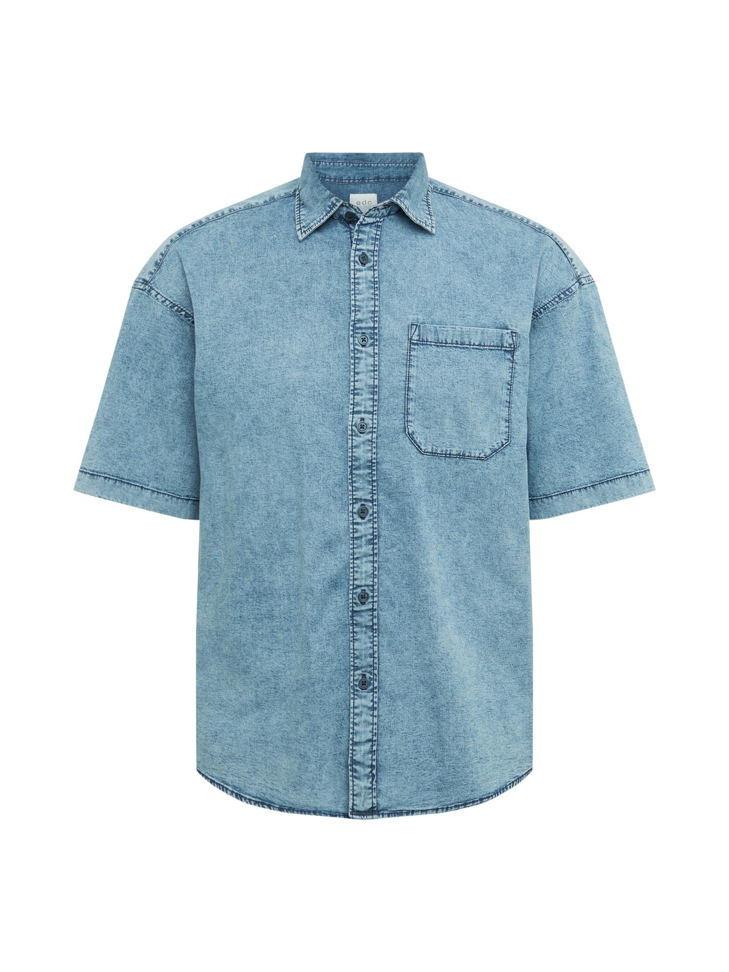EDC BY ESPRIT Marškiniai tamsiai (džinso) mėlyna