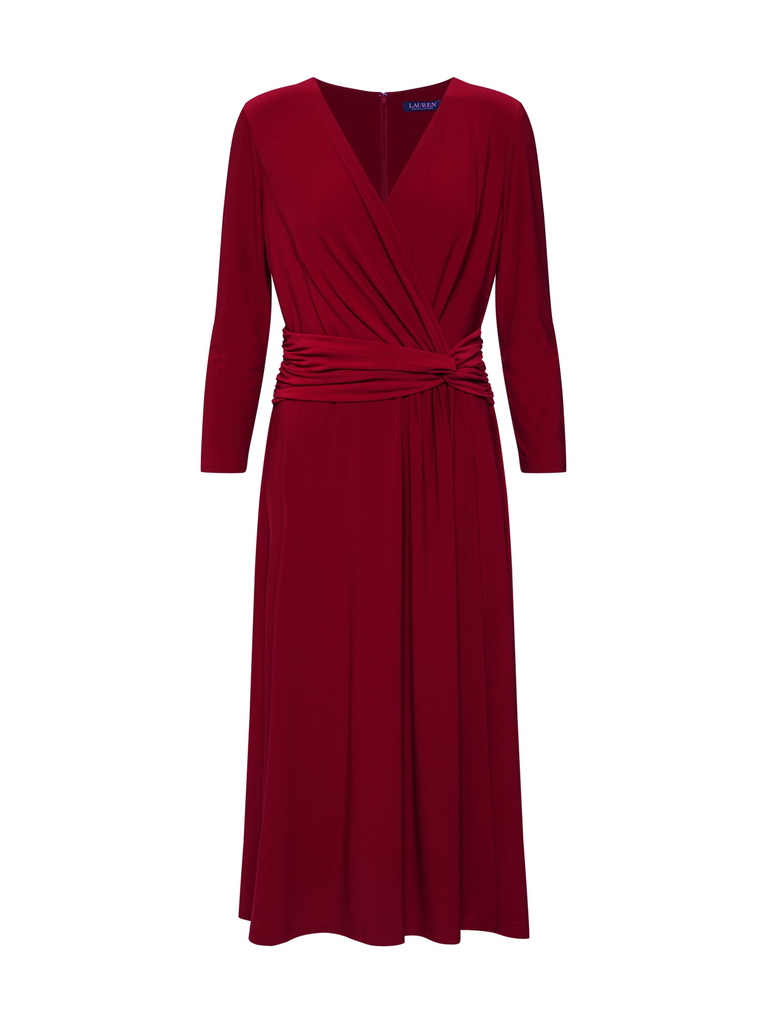Koktejlové šaty ZANAHARY vínově červená Lauren Ralph Lauren