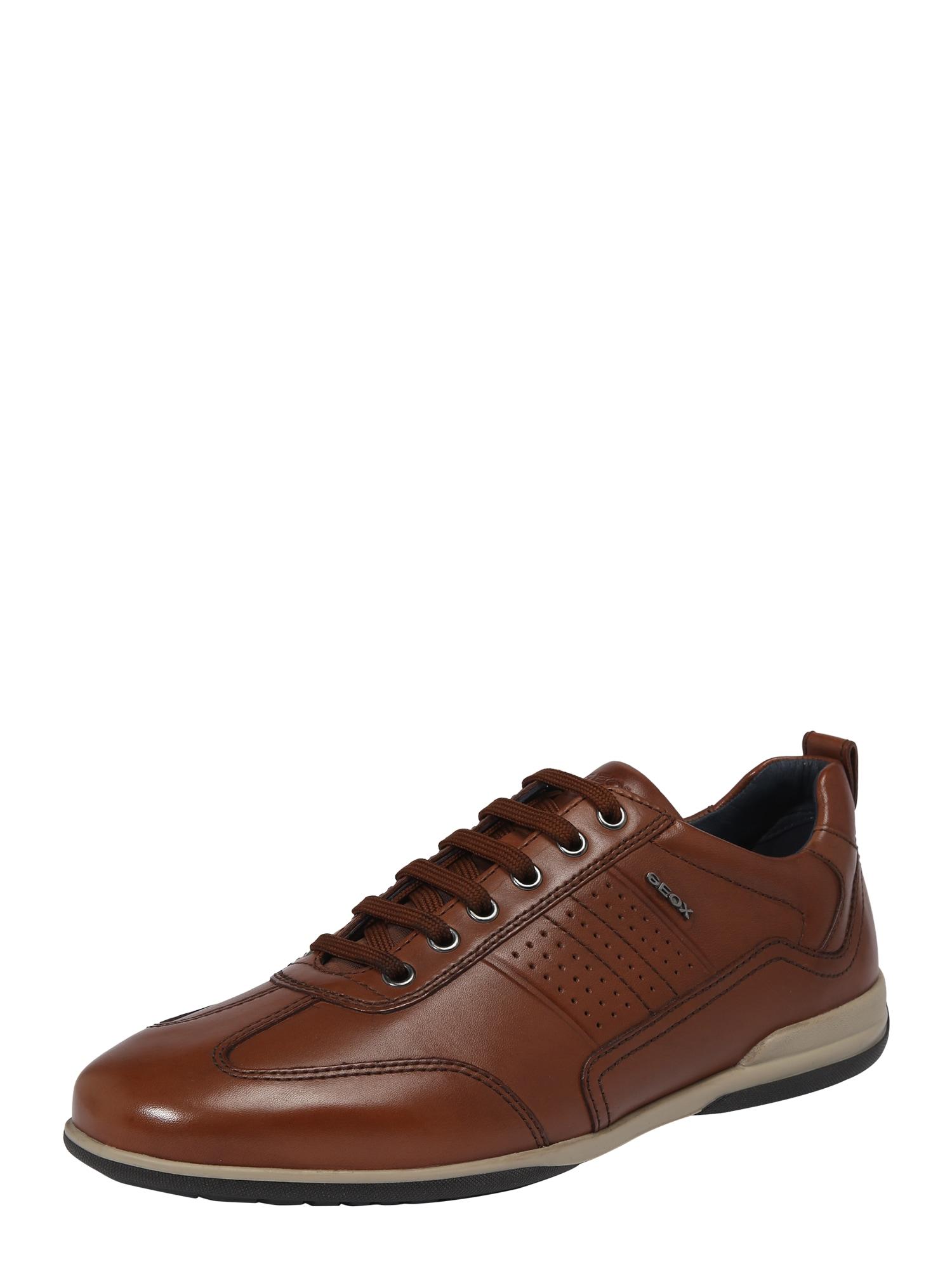 GEOX Sportinio stiliaus batai su raišteliais 'U TIMOTHY' ruda