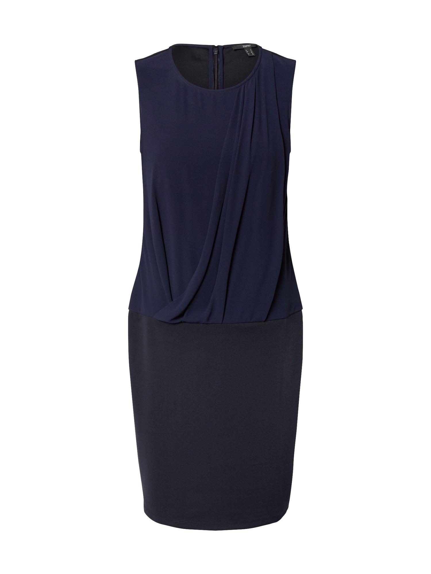 Esprit Collection Trumpa kokteilinė suknelė tamsiai mėlyna