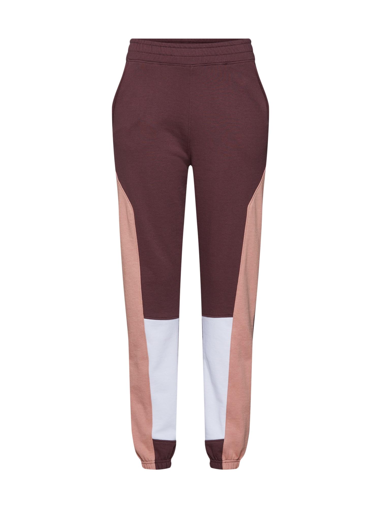 Kalhoty béžová hnědá bílá Missguided