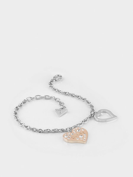 Armbaender für Frauen - GUESS Armband 'Heart Warming' rosegold silber  - Onlineshop ABOUT YOU