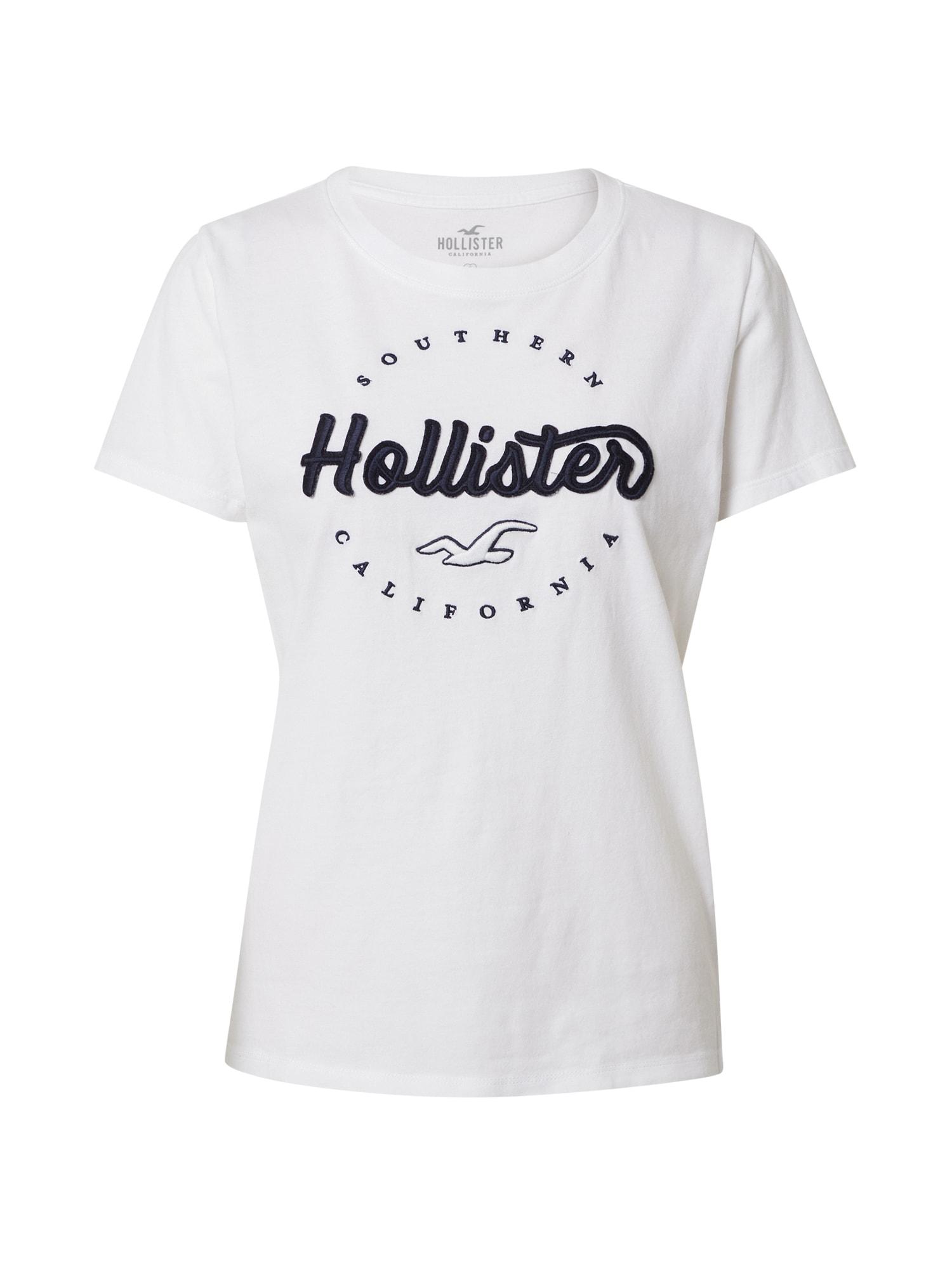 HOLLISTER Tričko 'Tech Core'  černá / bílá