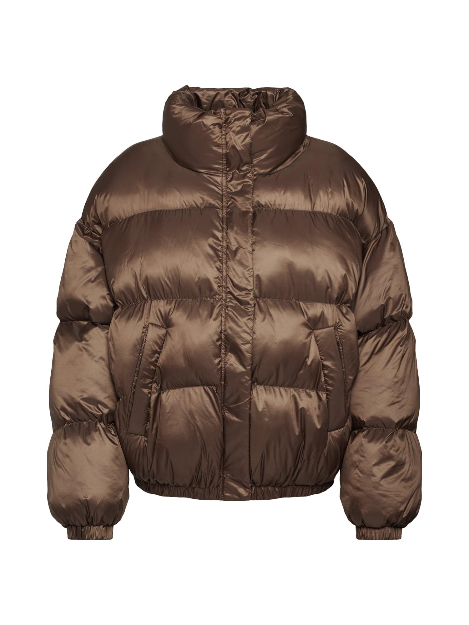 EDITED Žieminė striukė 'Elroy' ruda / tamsiai ruda