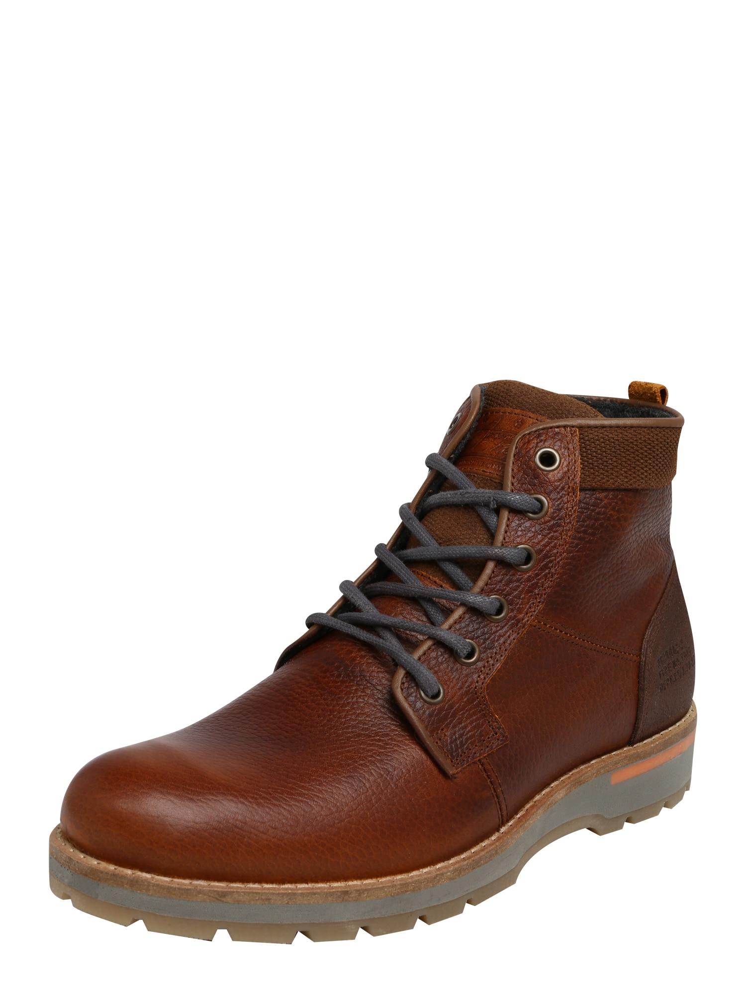 BULLBOXER Auliniai batai su raišteliais ruda (konjako)