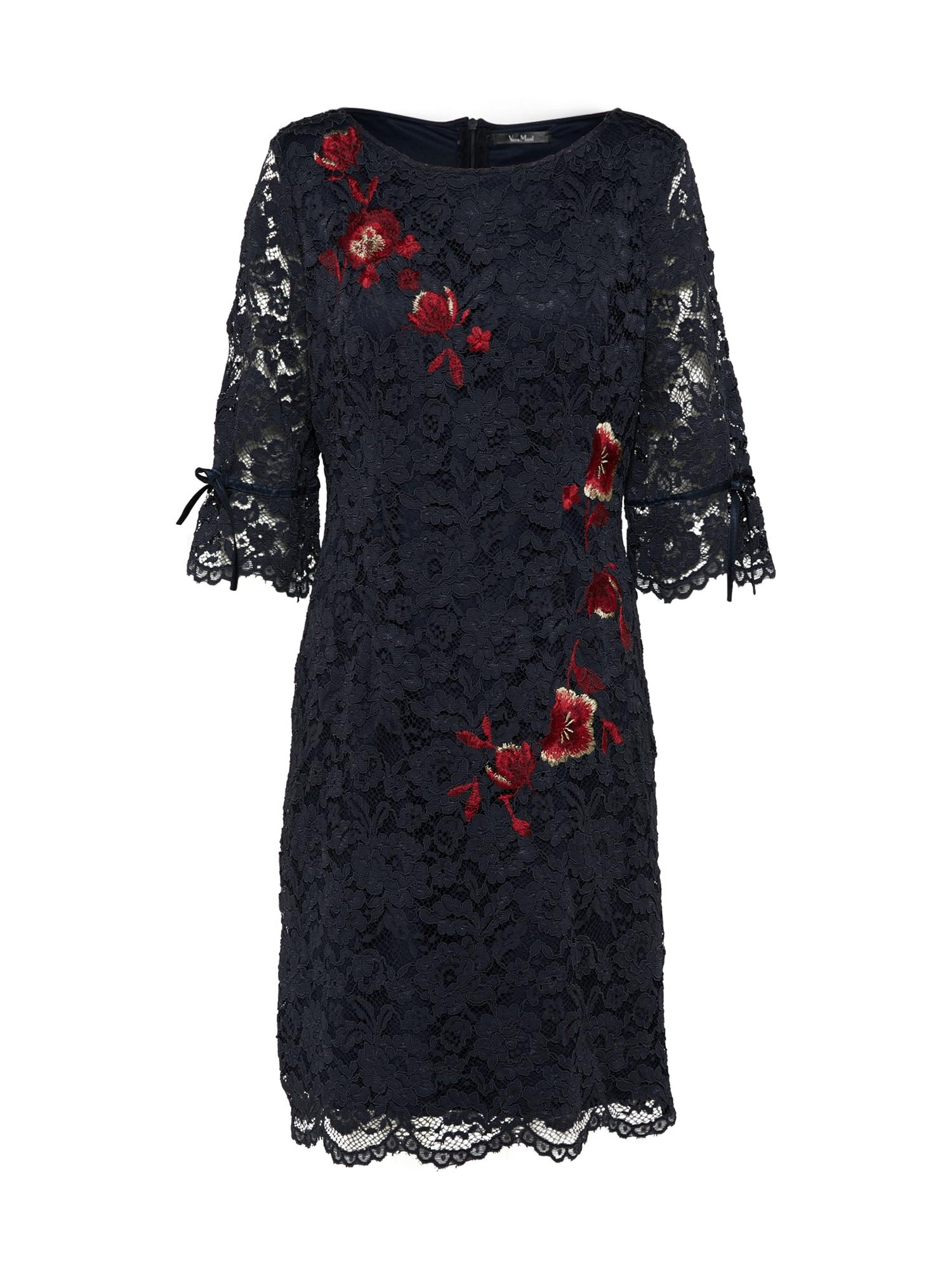 Koktejlové šaty tmavě modrá červená Vera Mont