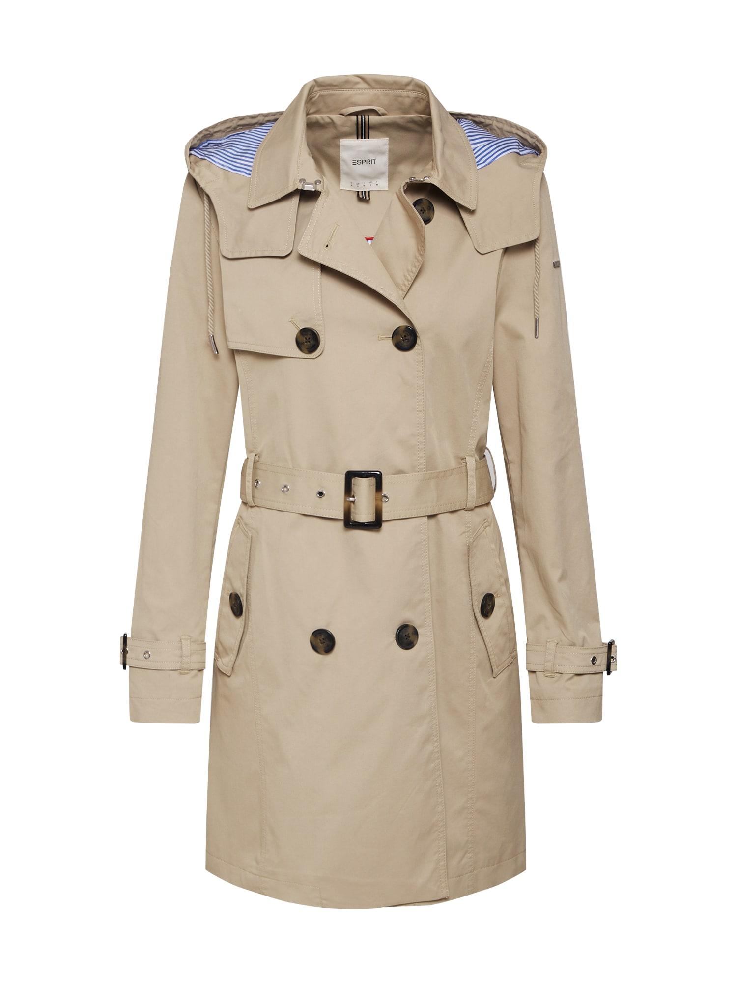 ESPRIT Rudeninis-žieminis paltas smėlio