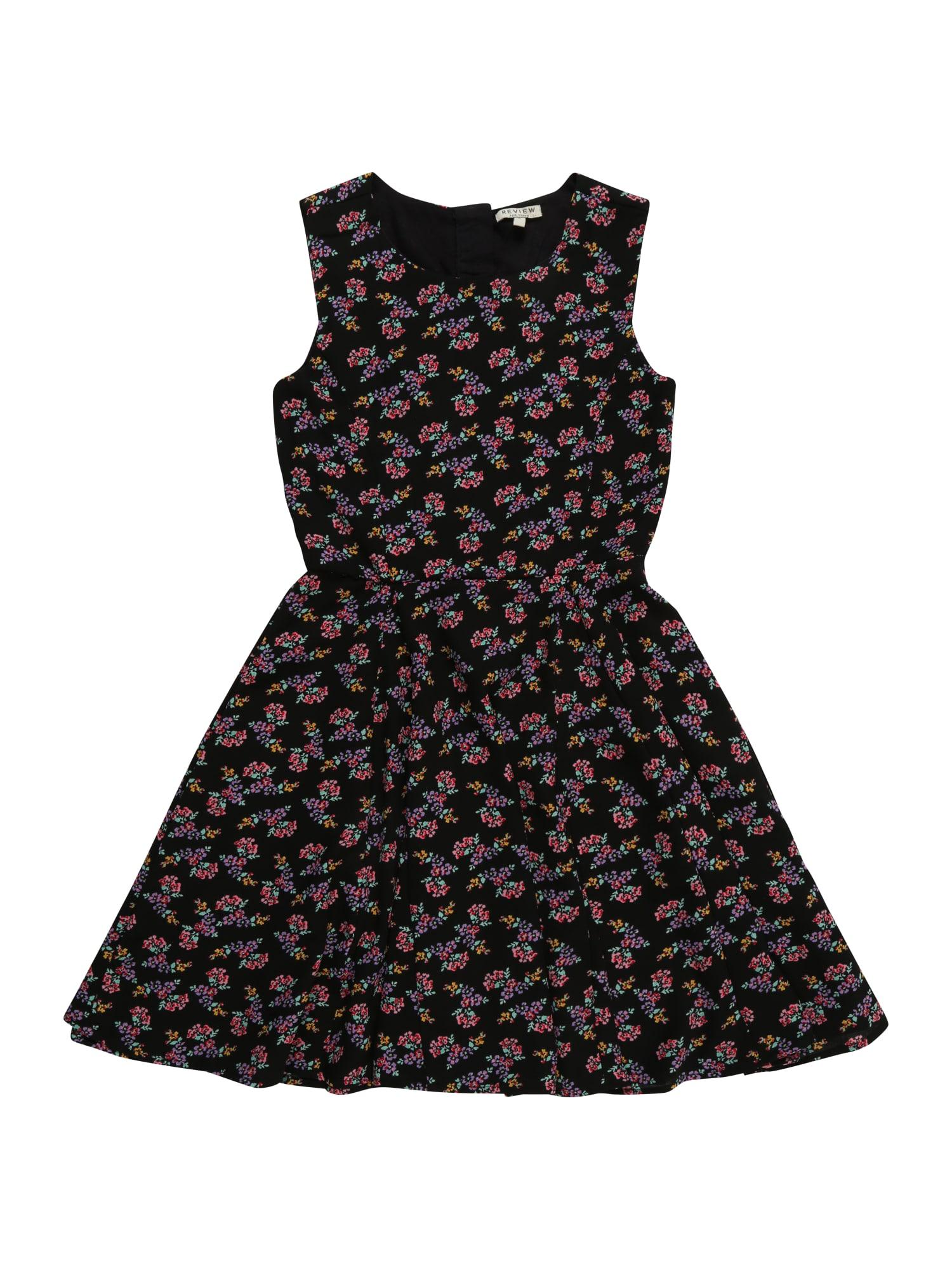 Šaty mix barev černá REVIEW FOR TEENS