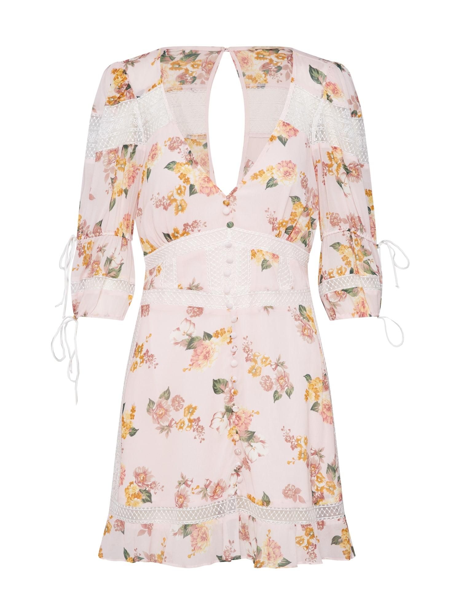 Letní šaty ISADORA MINI DRESS růžová For Love & Lemons