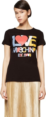 Love Moschino T-Shirt mit Label-Print