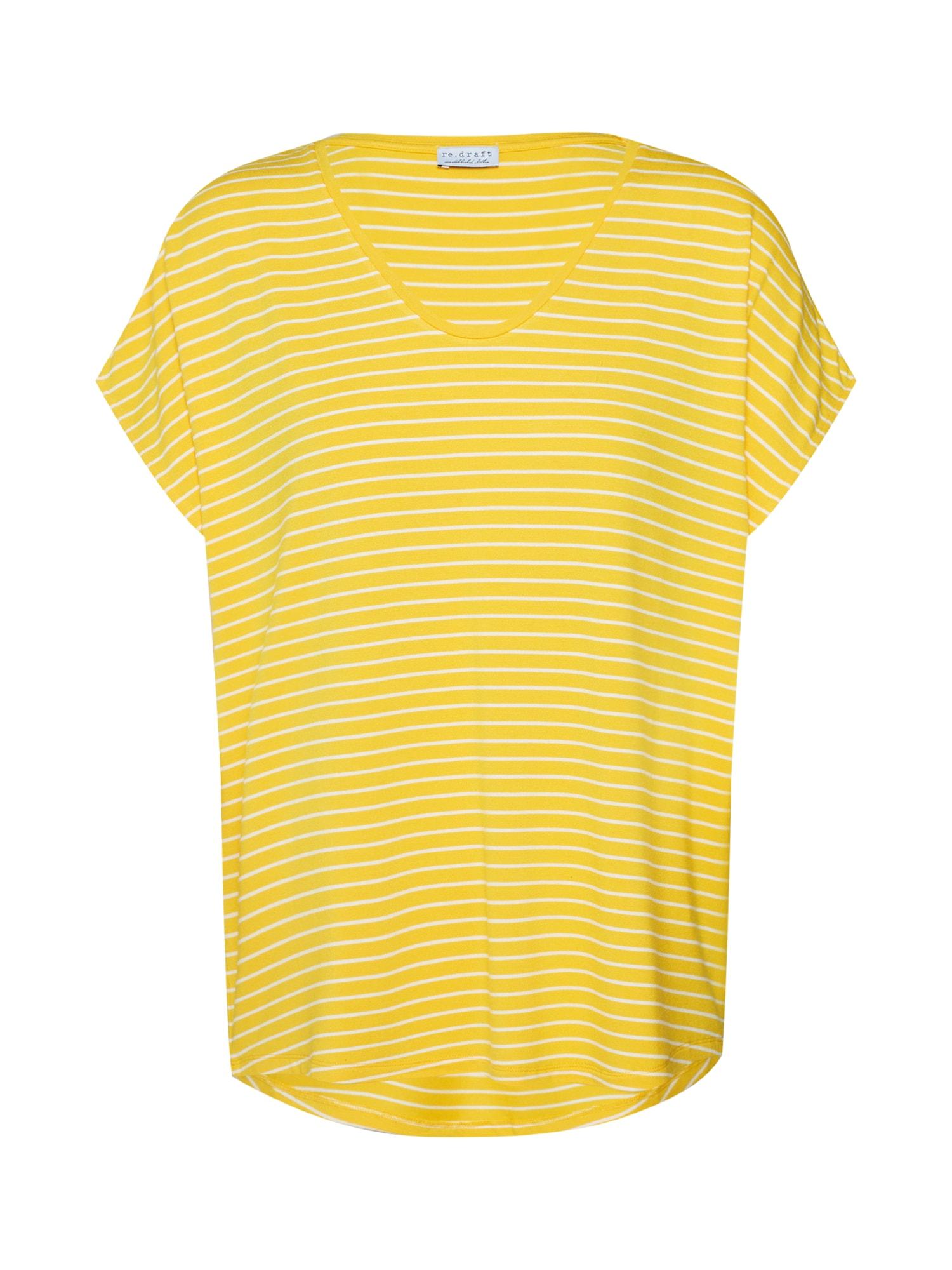 Tričko žlutá bílá Re.draft