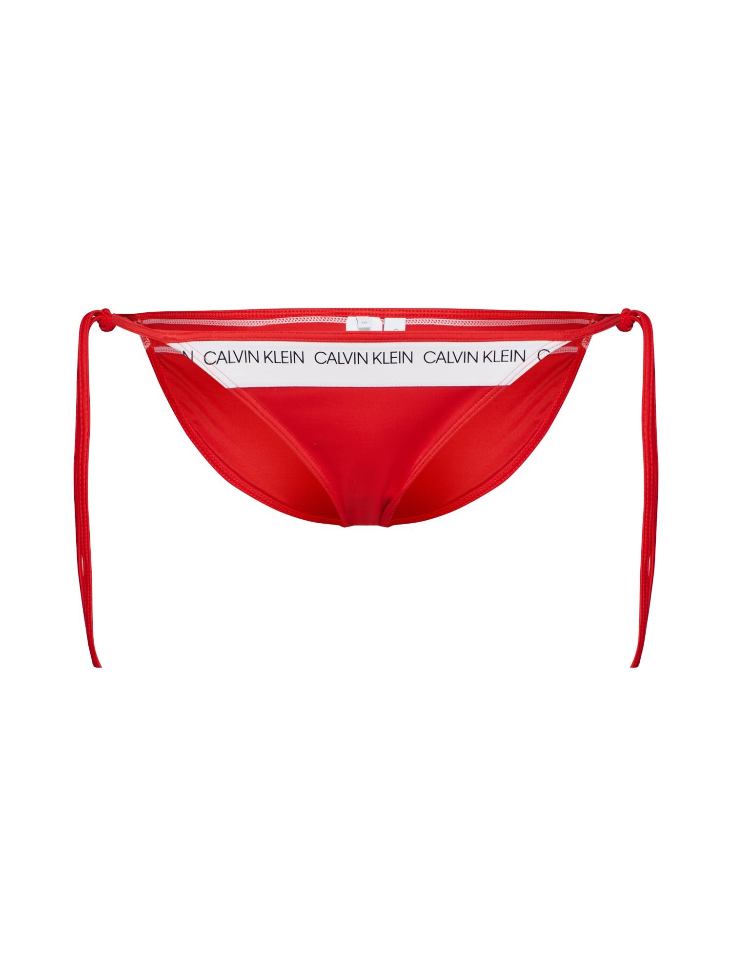 Spodní díl plavek Side Tie světle červená bílá Calvin Klein Swimwear