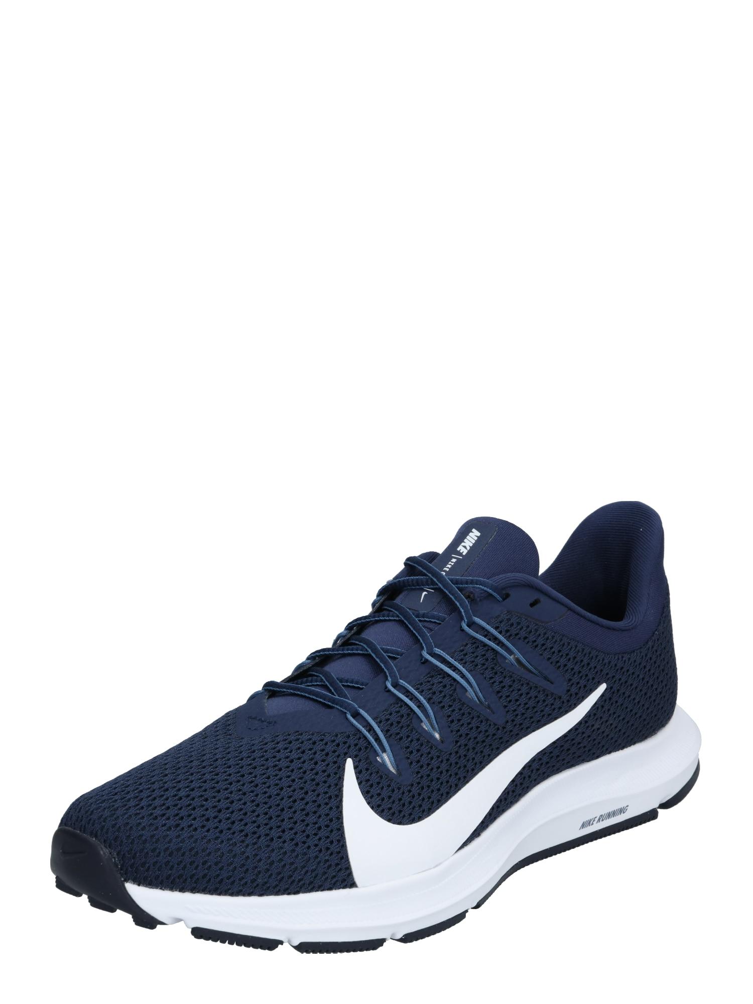 NIKE Bėgimo batai 'QUEST 2' balta / tamsiai mėlyna