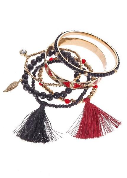 Armbaender - Armband › Lascana › gold rot schwarz  - Onlineshop ABOUT YOU