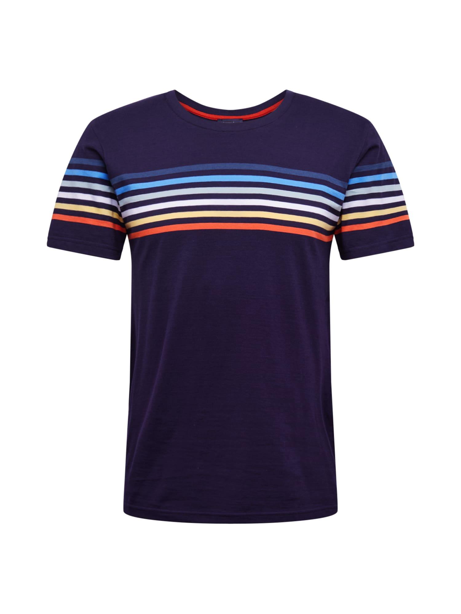 Armor Lux Marškinėliai 'Rayé Placé' mišrios spalvos / tamsiai mėlyna