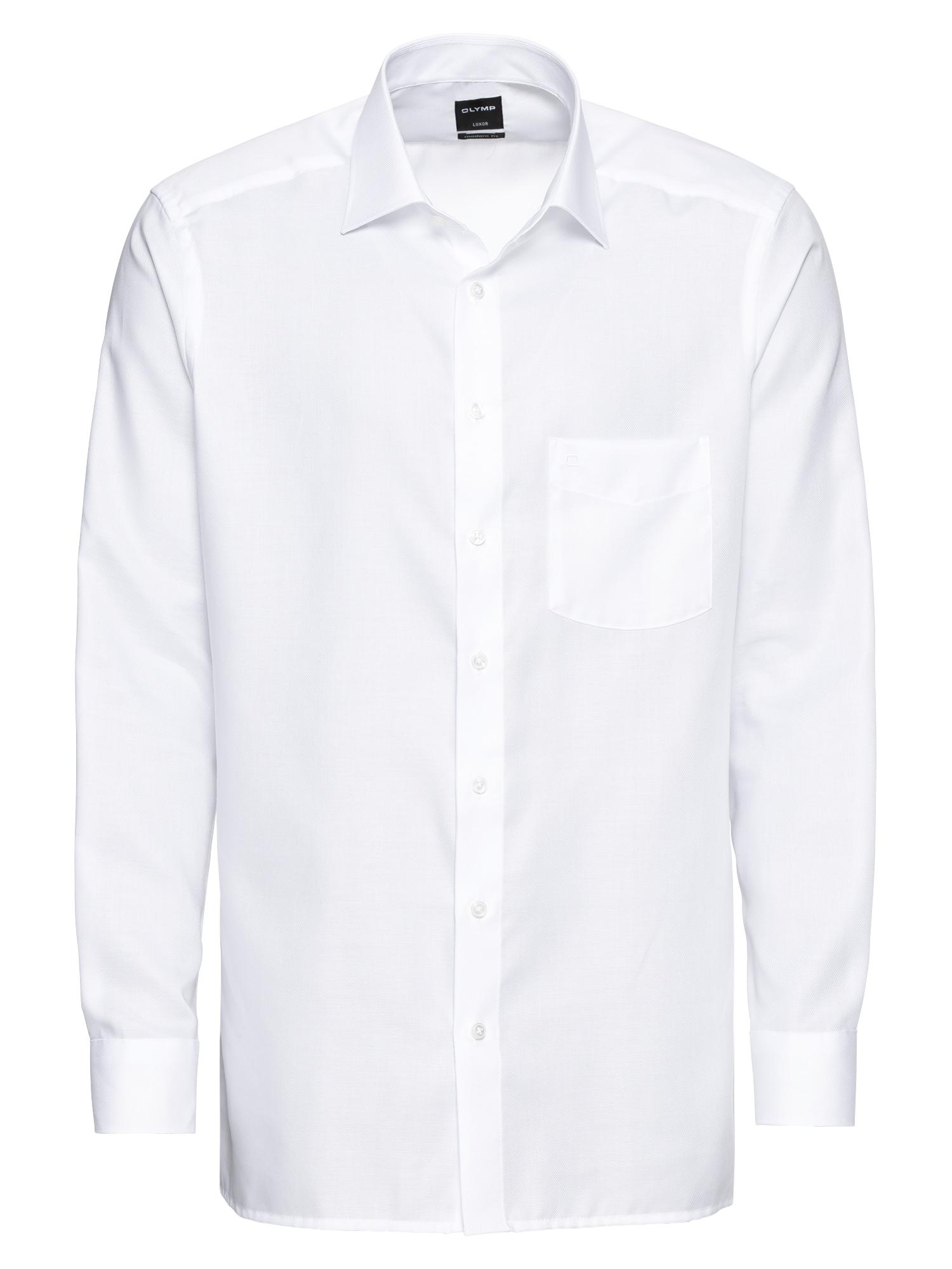 Společenská košile Luxor Faux Uni bílá OLYMP