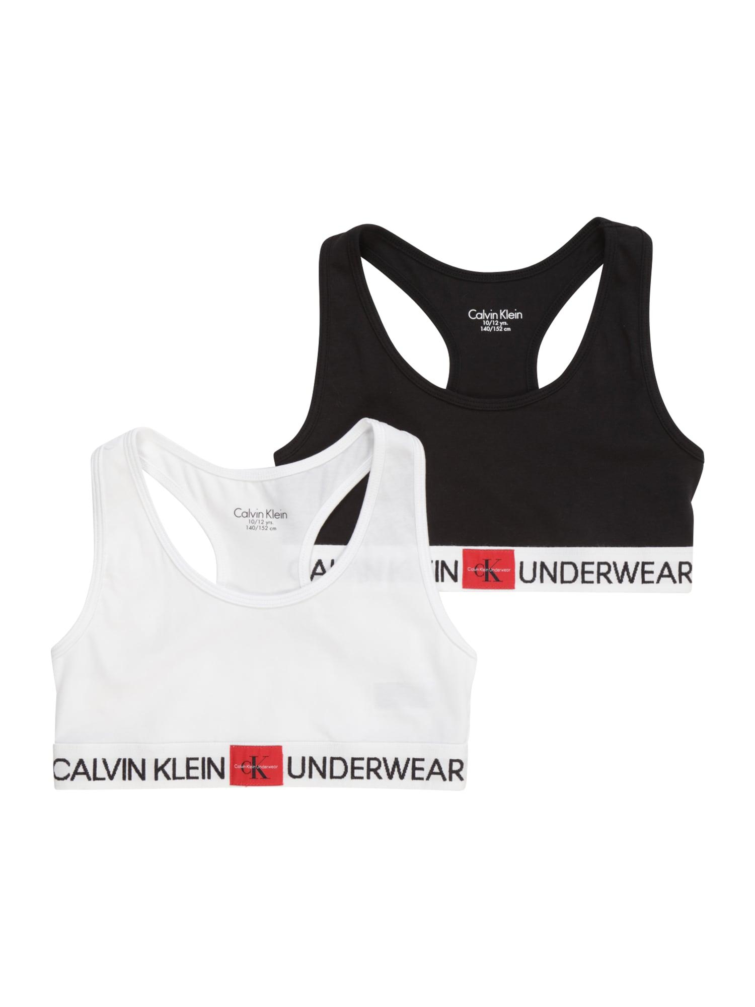 Calvin Klein Underwear Liemenėlė juoda / balta