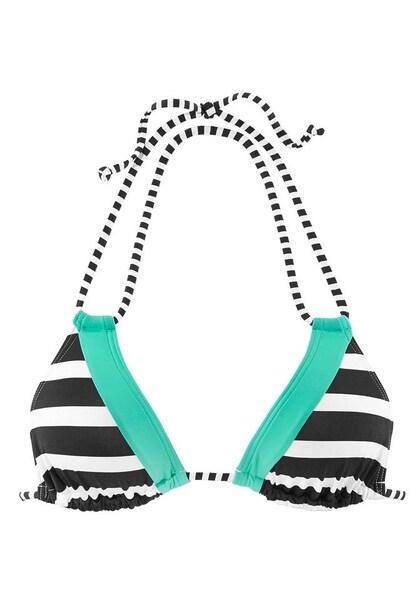 Bademode - Triangel Top › Kangaroos › jade schwarz weiß  - Onlineshop ABOUT YOU