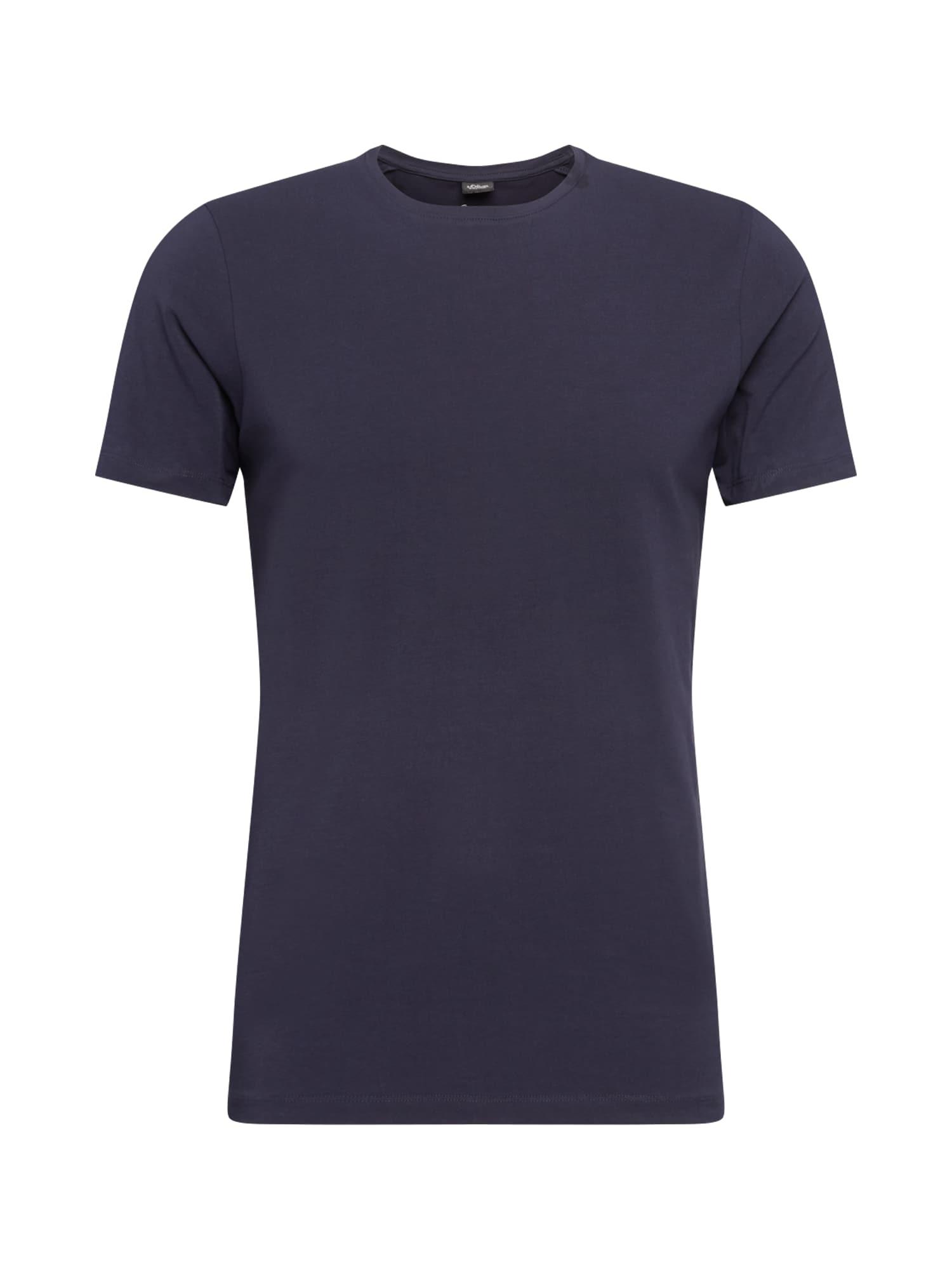 s.Oliver BLACK LABEL Tričko  modrá