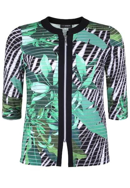 Jacken - Jacke mit floralem Muster › Doris Streich › mint schwarz weiß  - Onlineshop ABOUT YOU