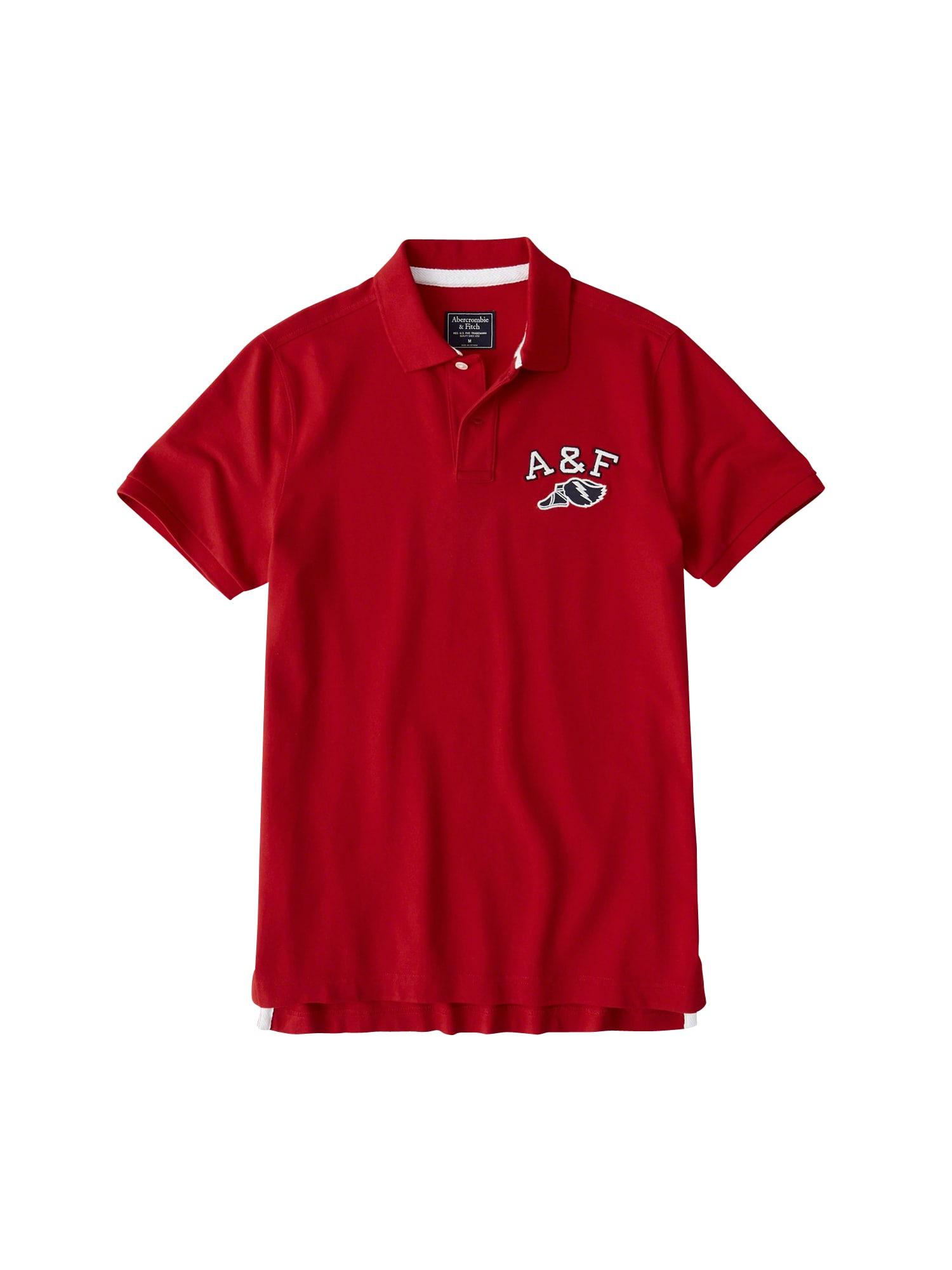 Abercrombie & Fitch Marškinėliai 'MRKTD POLO' raudona