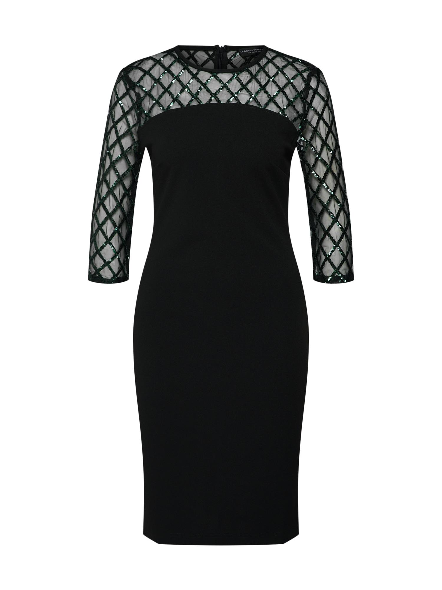 Koktejlové šaty DIAMOND černá Dorothy Perkins