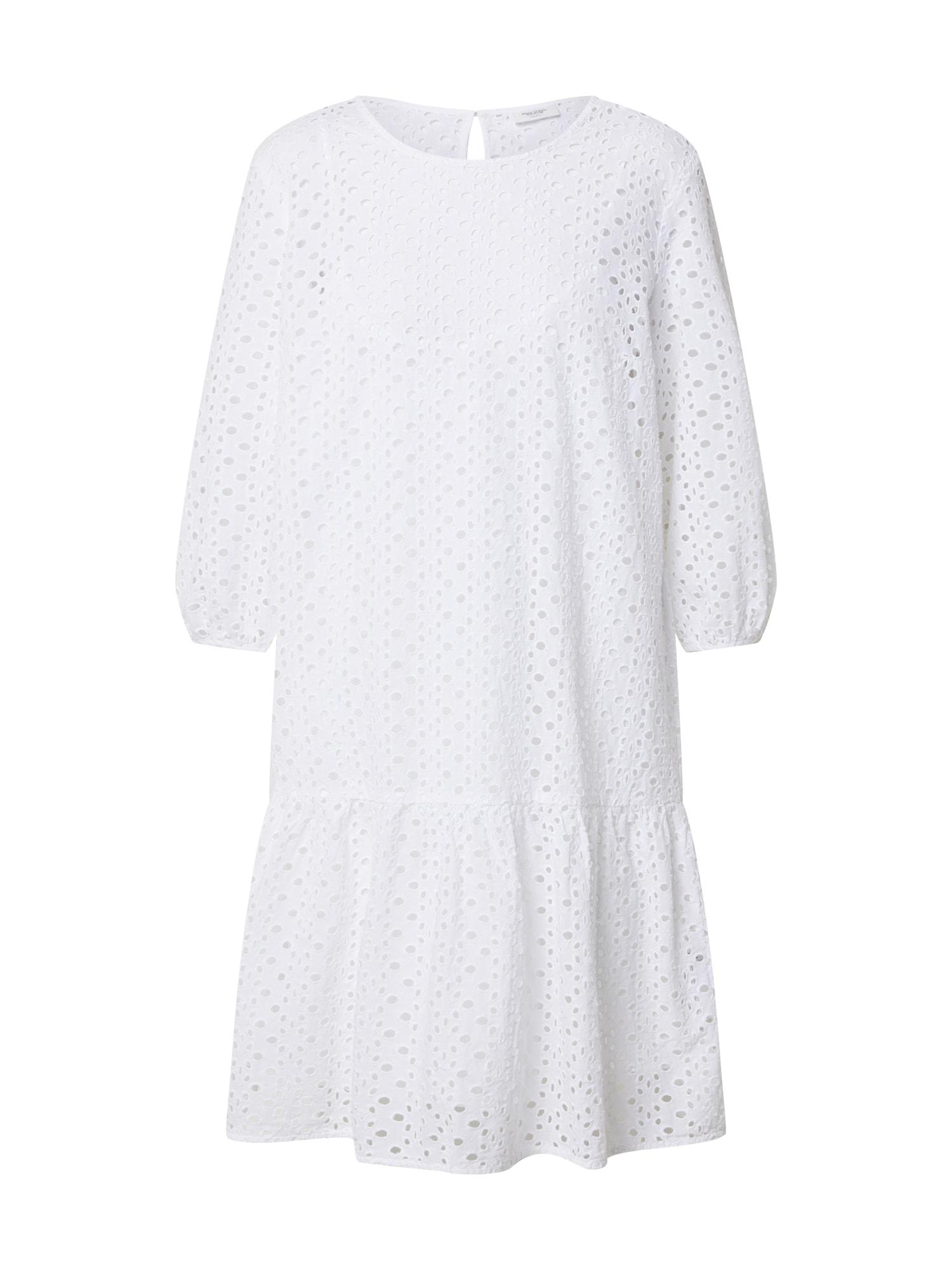 Marc O'Polo DENIM Vasarinė suknelė 'Broidery anglaise, ls' balta