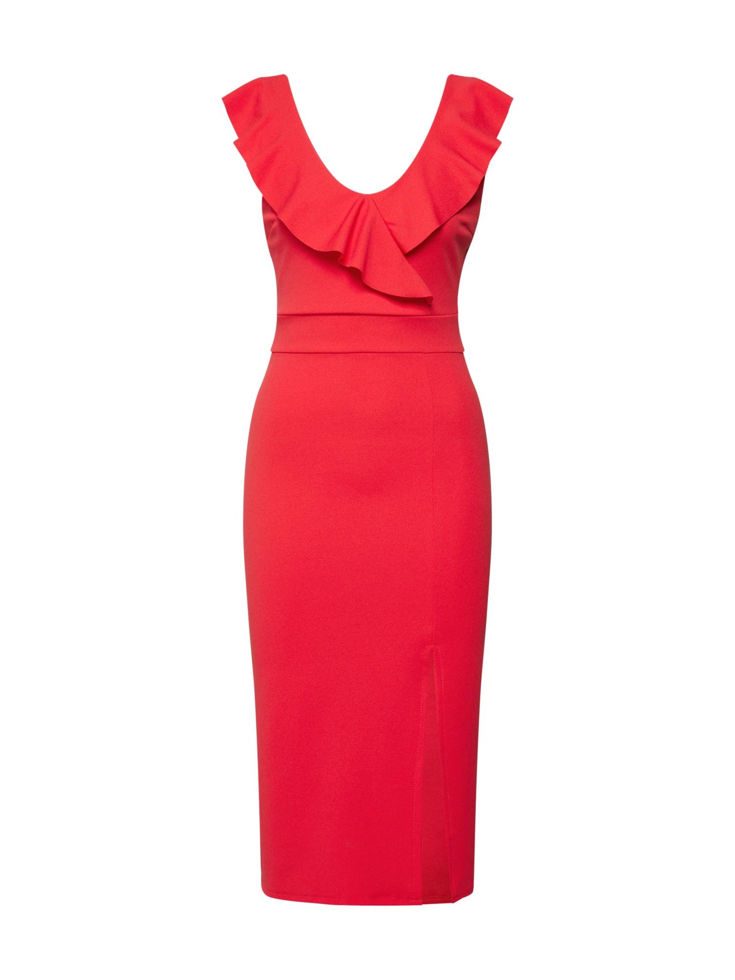 WAL G. Kokteilinė suknelė raudona