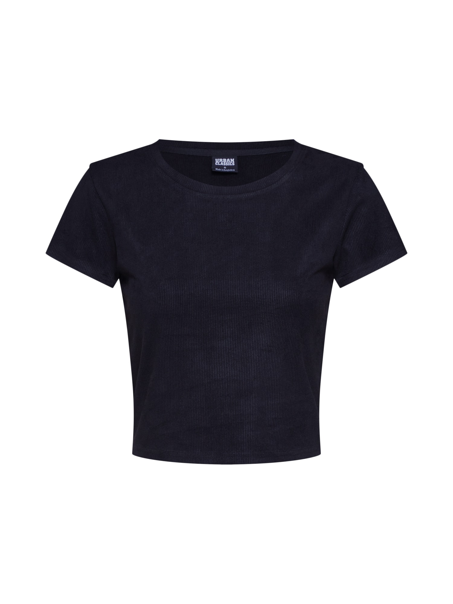 Urban Classics Tričko 'Ladies Cropped Peached Rib Tee'  čierna