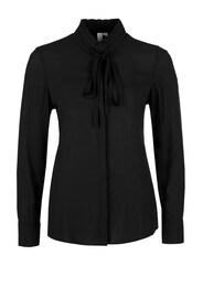 Q/S Designed By Damen Stehkragen-Bluse mit Schleife schwarz | 04056523408423