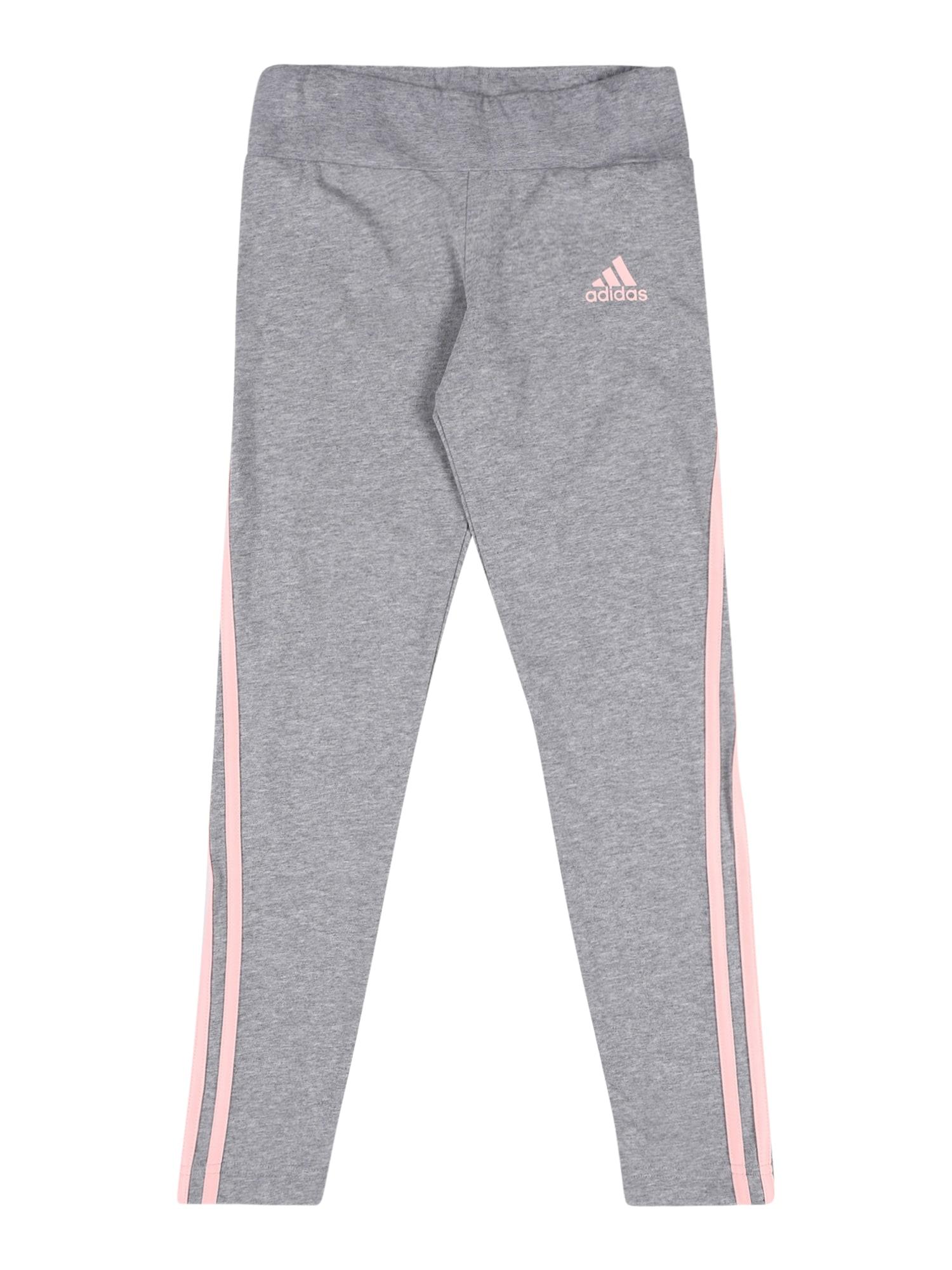 ADIDAS PERFORMANCE Sportinės kelnės šviesiai rožinė / margai pilka