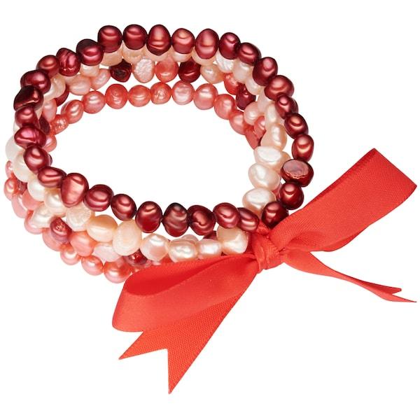 Armbaender für Frauen - Valero Pearls Armband mit Süßwasser Zuchtperlen orange rot  - Onlineshop ABOUT YOU