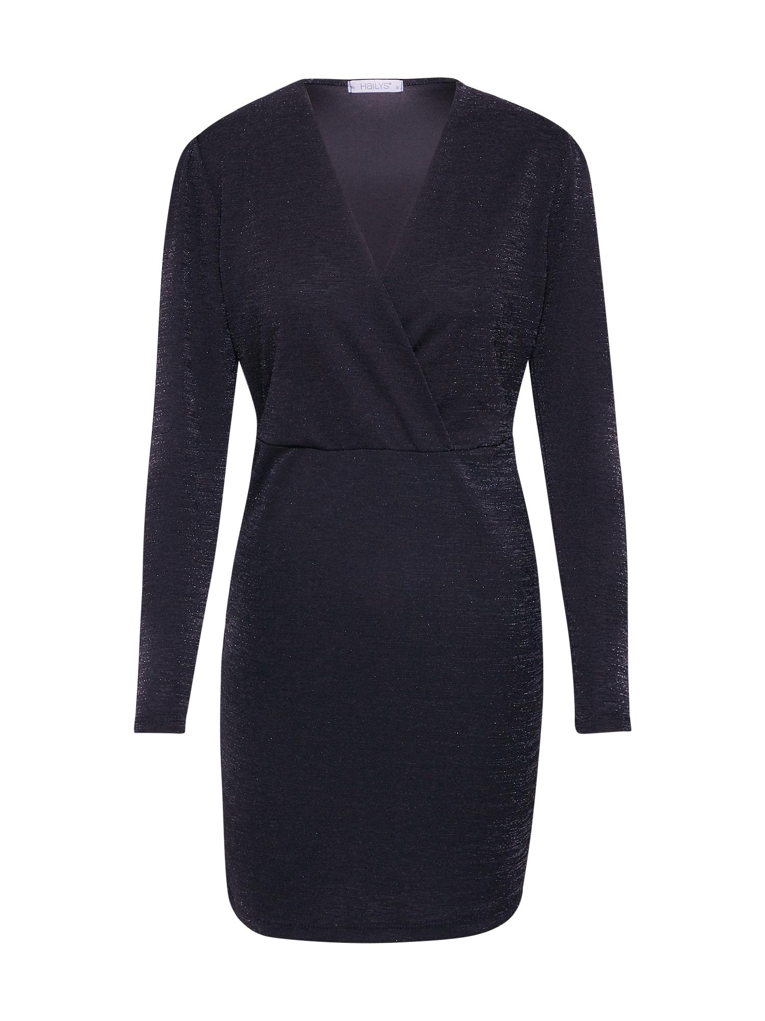 Hailys Trumpa kokteilinė suknelė 'Linda' juoda