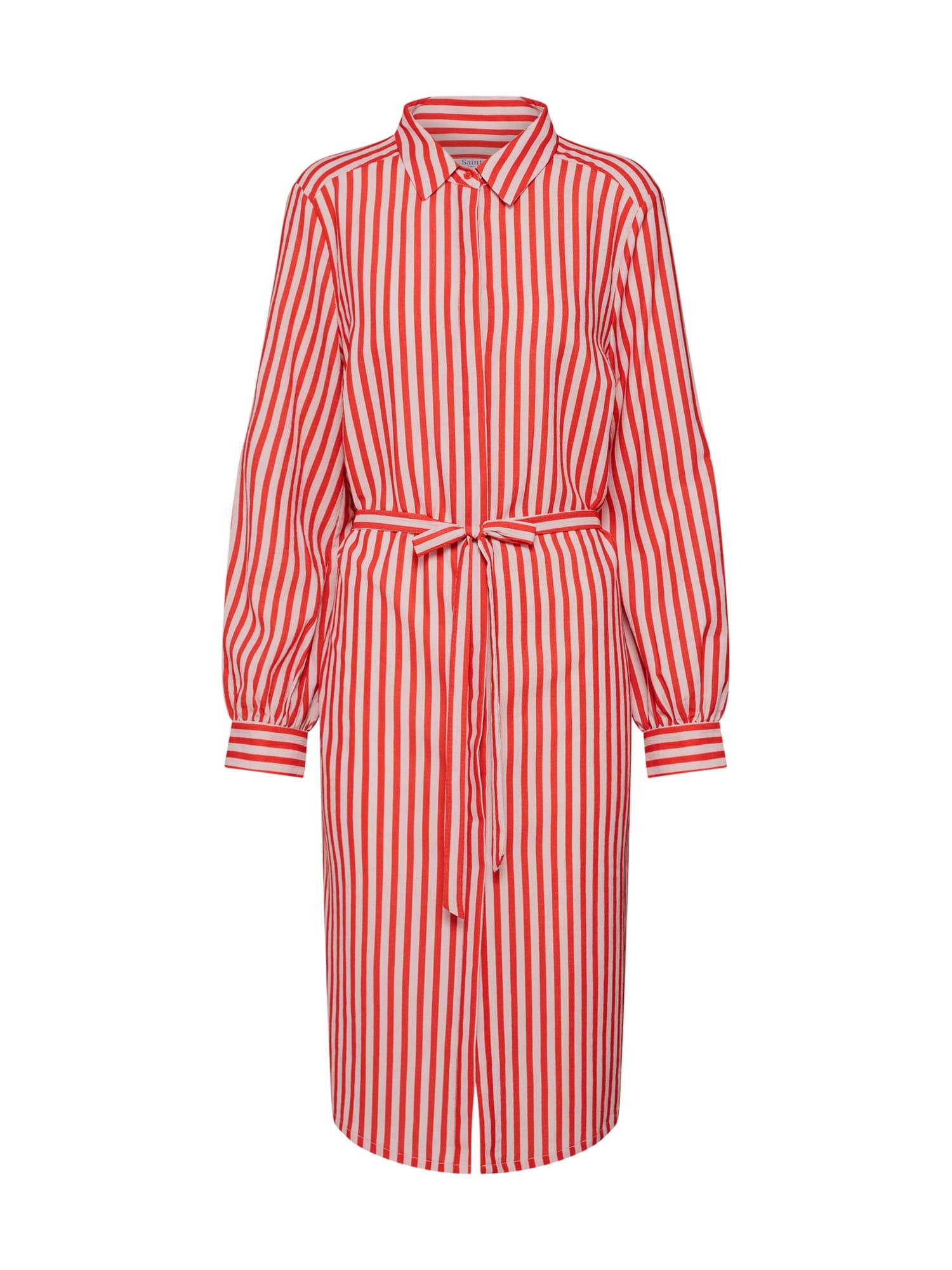 Košilové šaty béžová červená SAINT TROPEZ