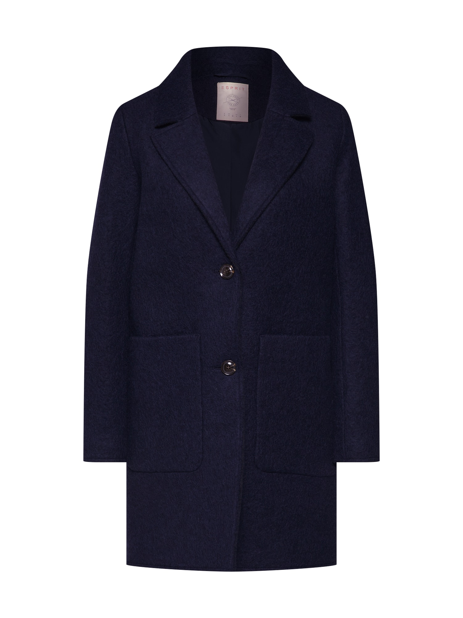 EDC BY ESPRIT Rudeninis-žieminis paltas 'Knitted Wool' tamsiai mėlyna